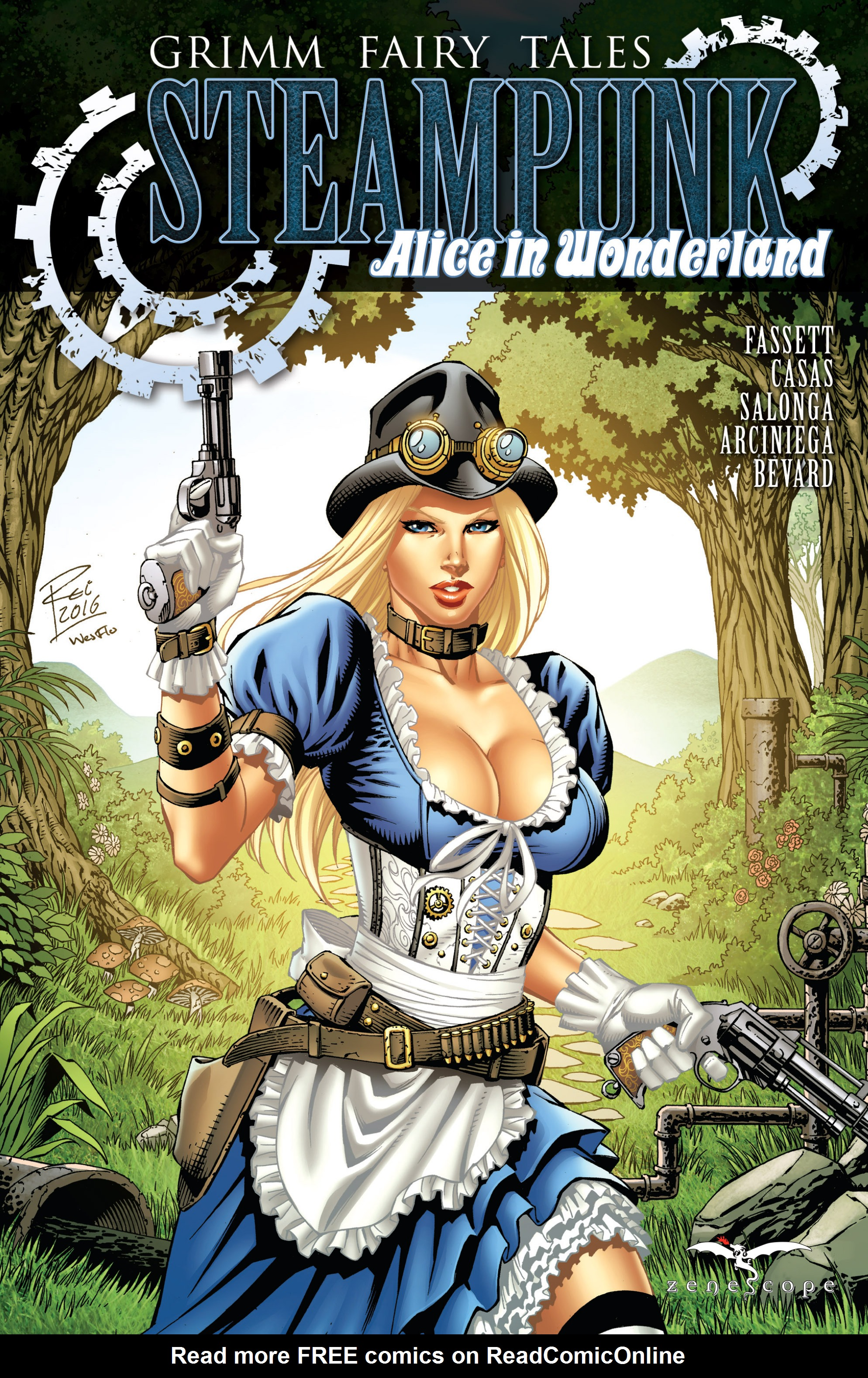 Read online Steampunk: Alice in Wonderland comic -  Issue # Full - 1