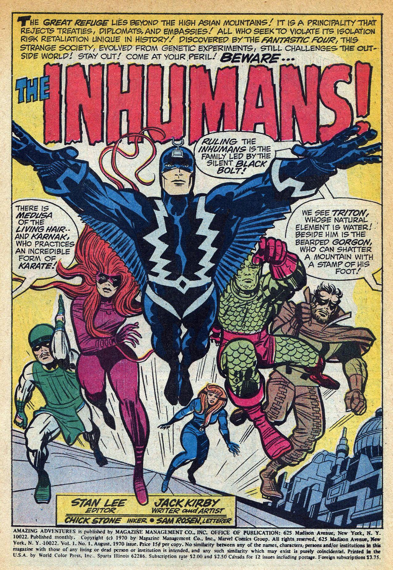 Read online Amazing Adventures (1970) comic -  Issue #1 - 3