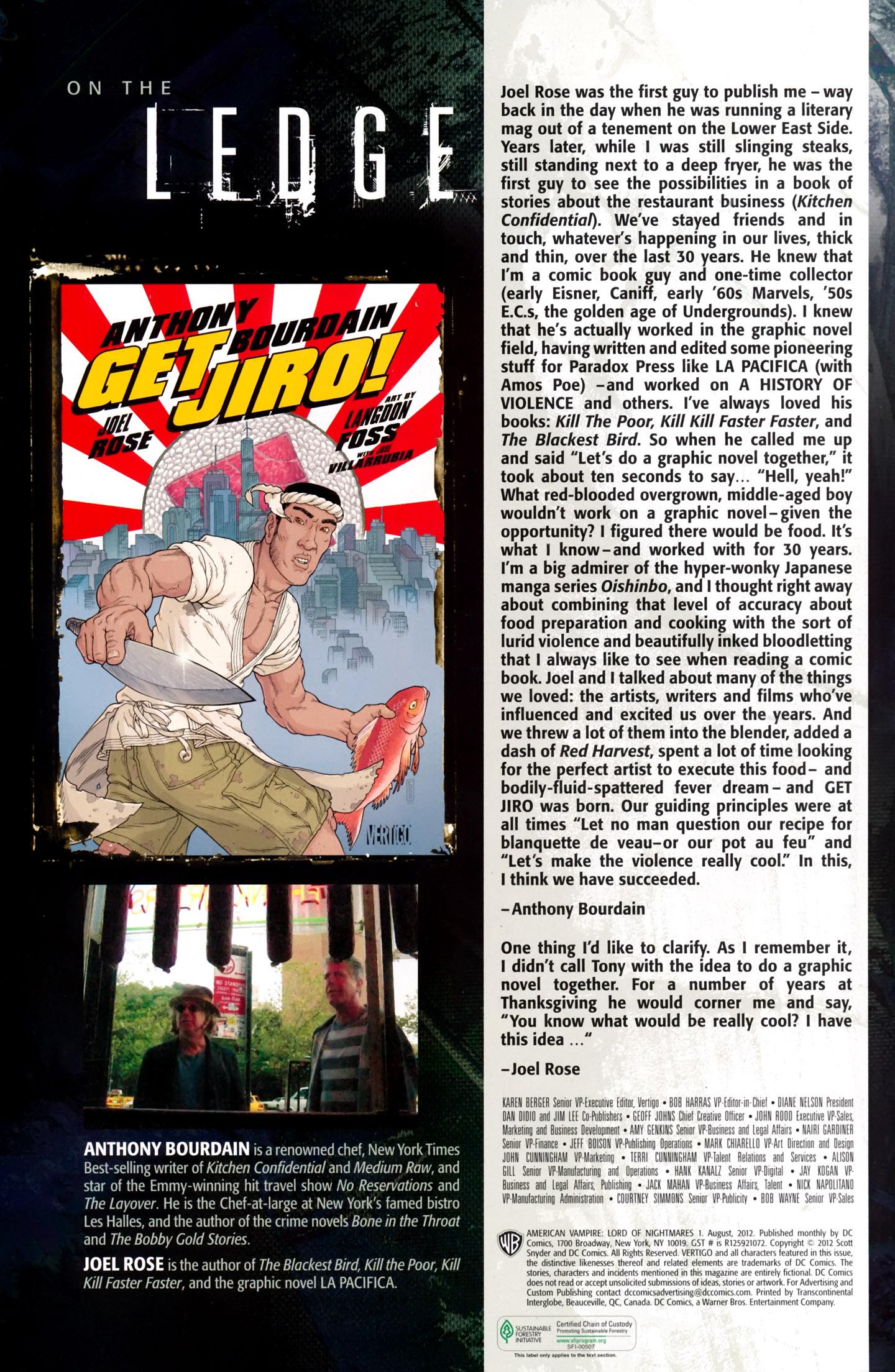 Read online American Vampire: Lord of Nightmares comic -  Issue #1 - 32