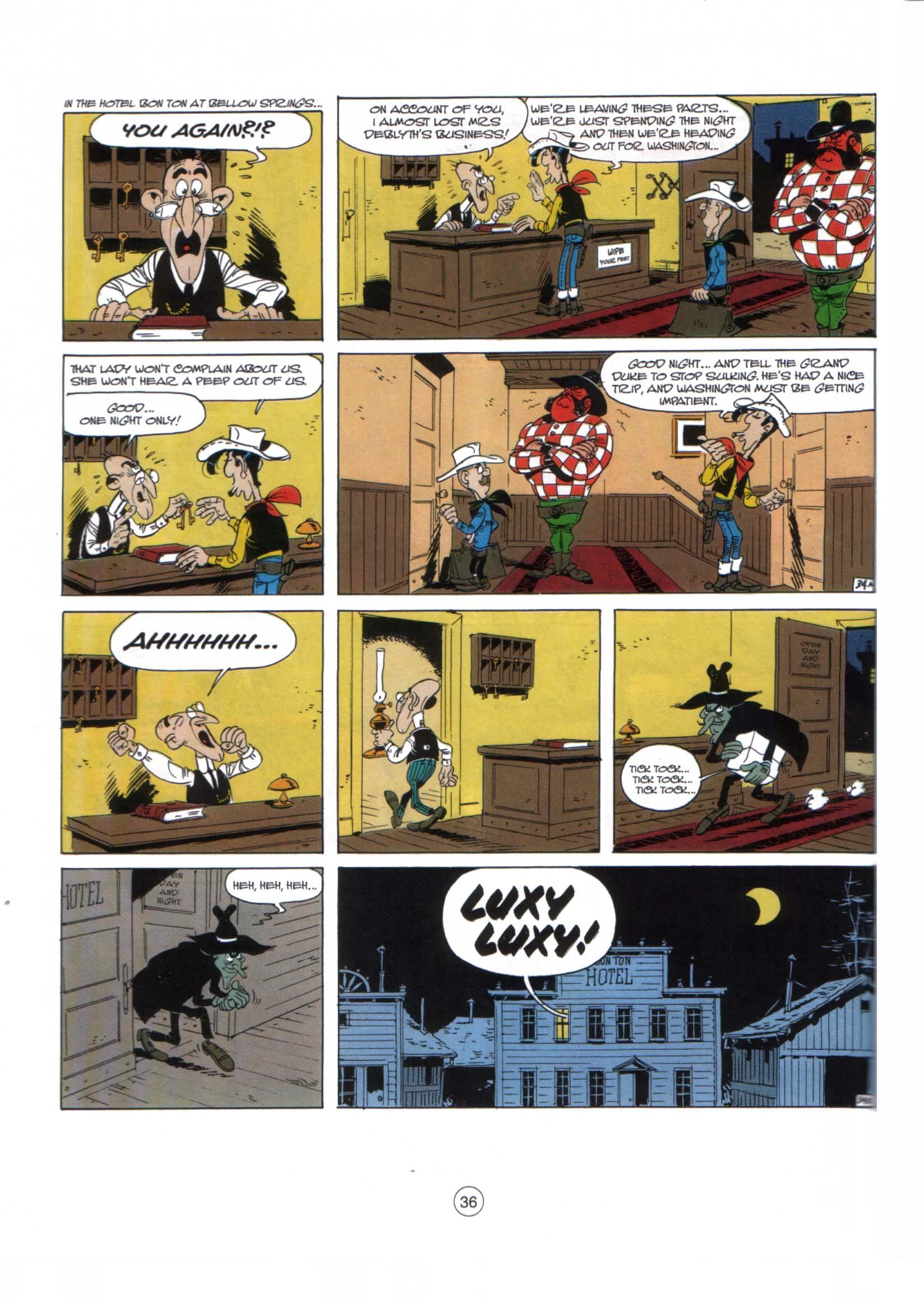 Read online A Lucky Luke Adventure comic -  Issue #29 - 35