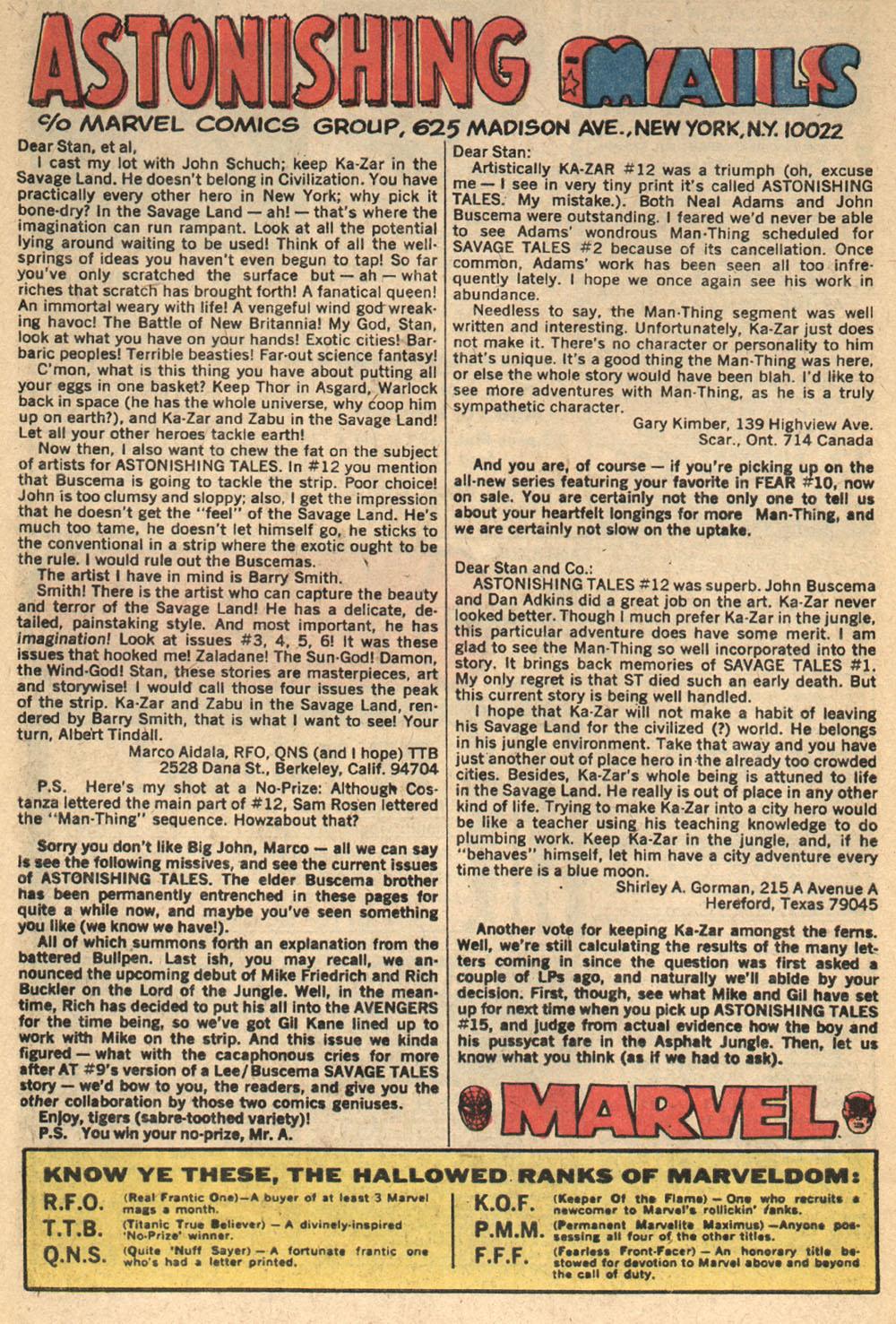 Read online Astonishing Tales (1970) comic -  Issue #14 - 18