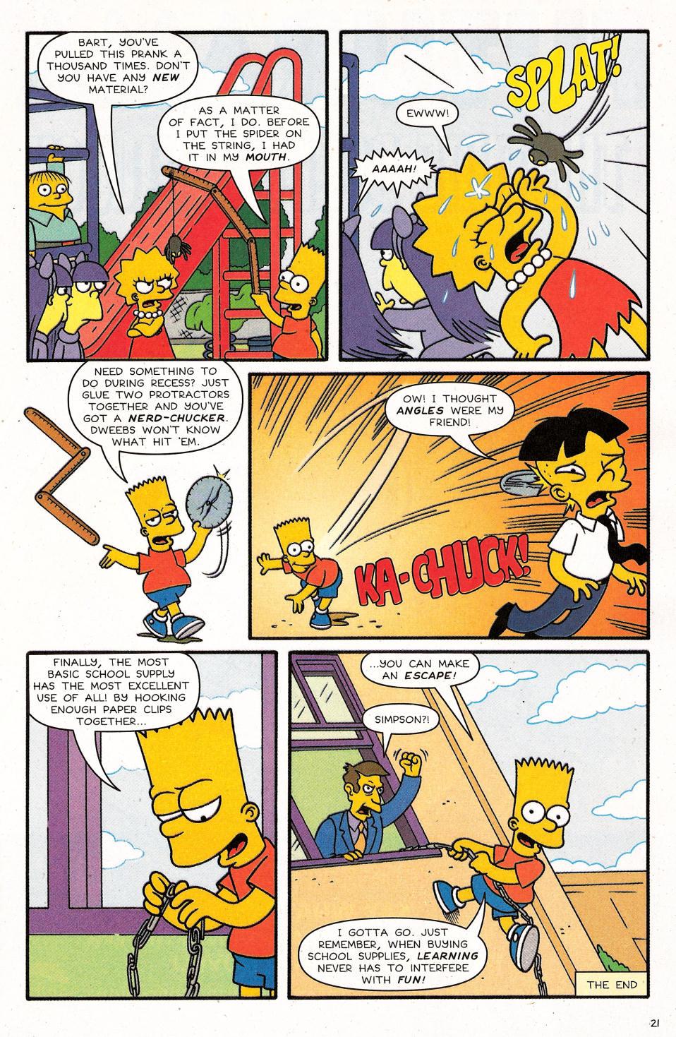 Read online Simpsons Comics Presents Bart Simpson comic -  Issue #31 - 23