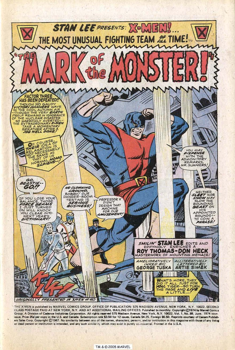 Uncanny X-Men (1963) 88 Page 2