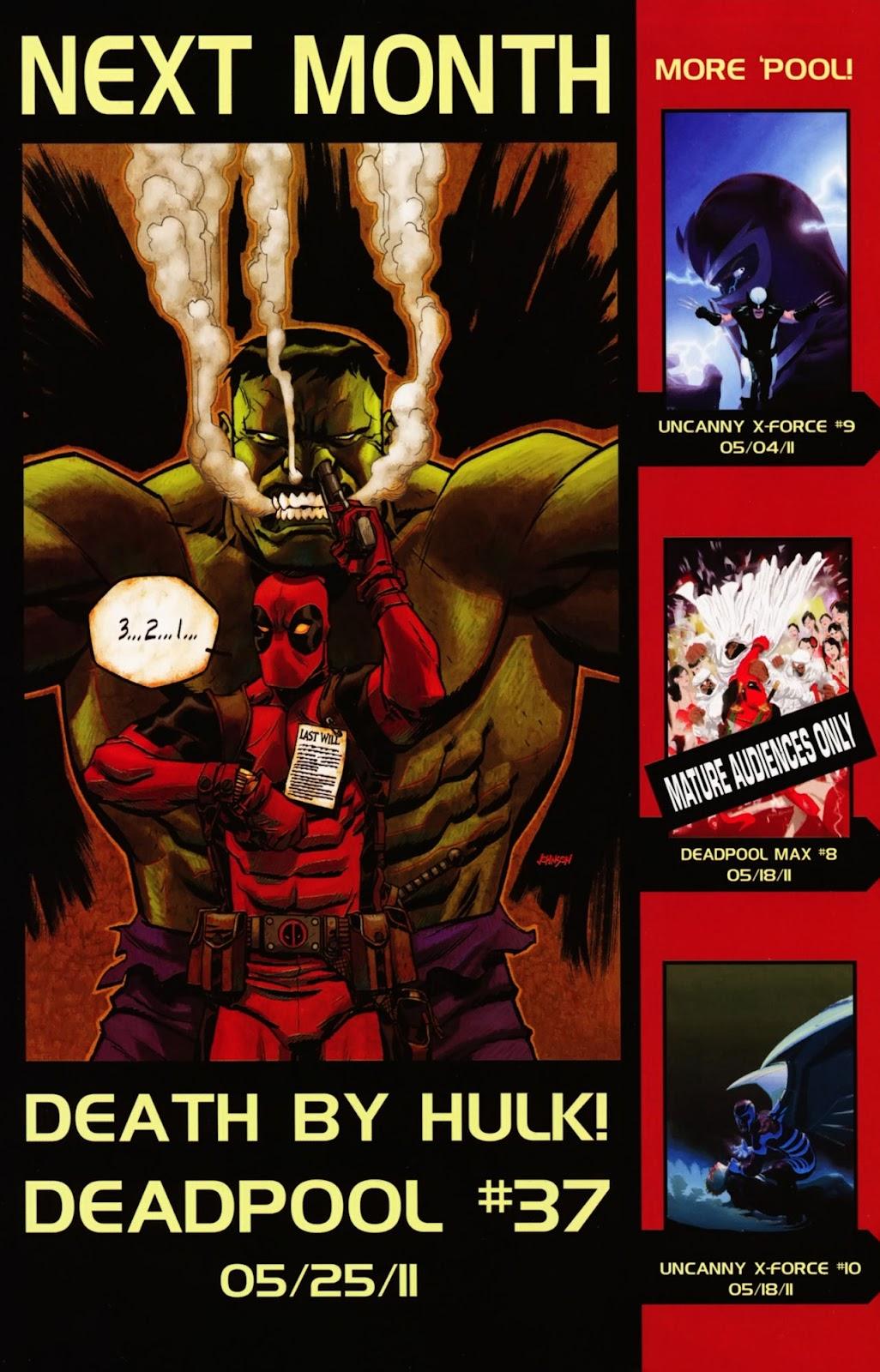 Read online Deadpool (2008) comic -  Issue #36 - 23