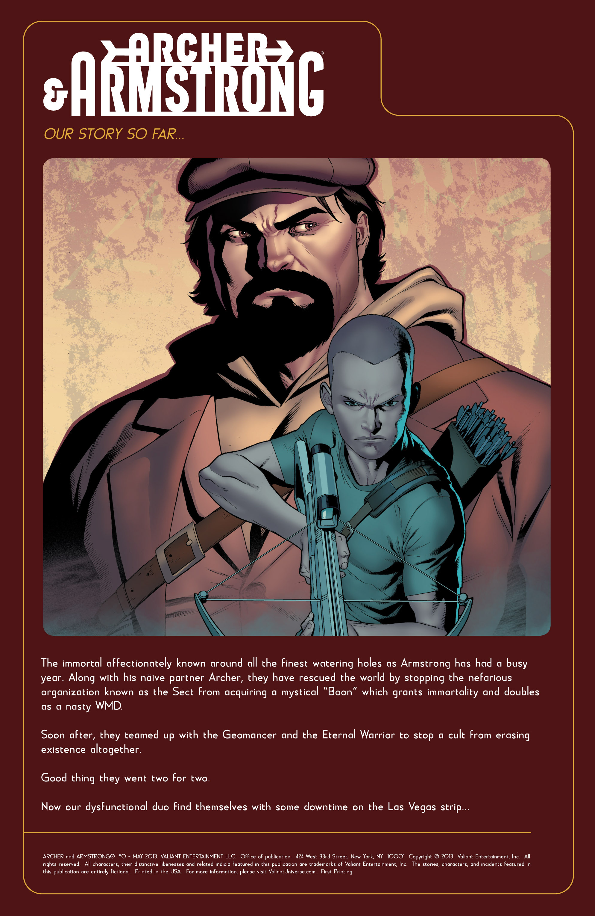 Read online Archer and Armstrong comic -  Issue #0 - 2