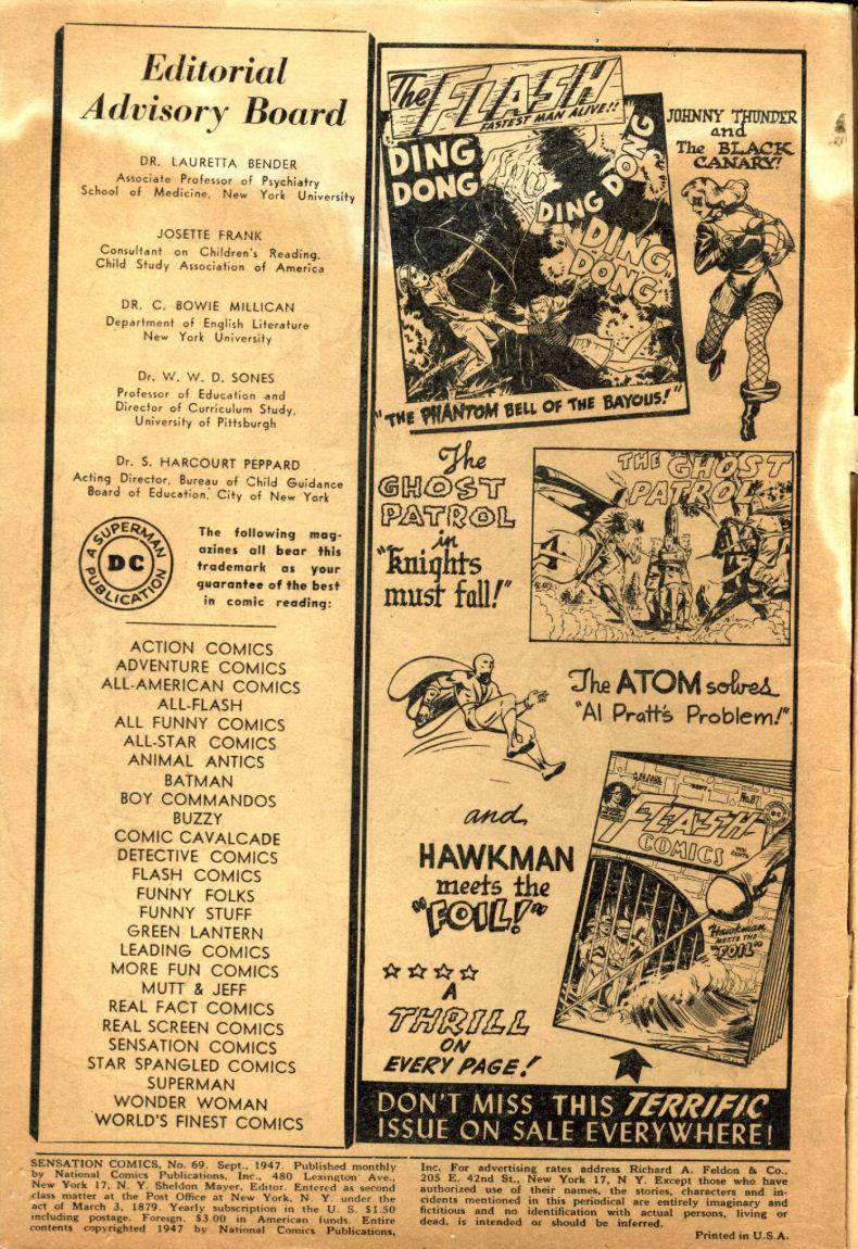 Read online Sensation (Mystery) Comics comic -  Issue #69 - 4