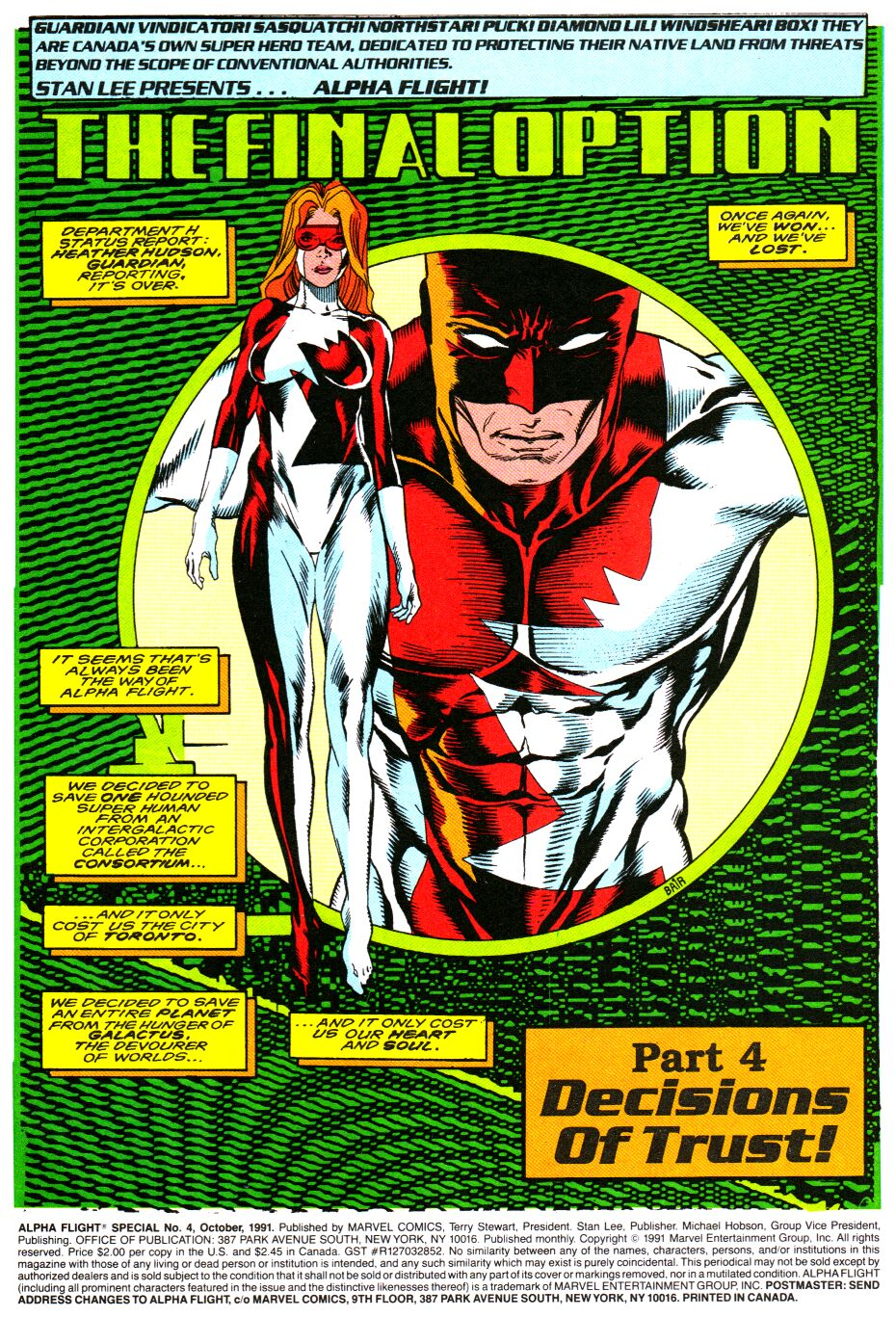Read online Alpha Flight Special comic -  Issue #4 - 2