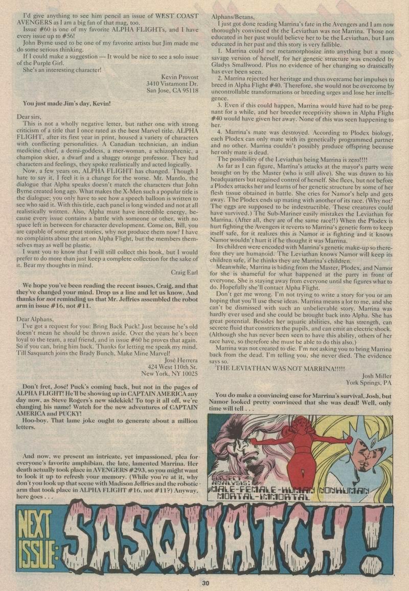 Read online Alpha Flight (1983) comic -  Issue #63 - 32