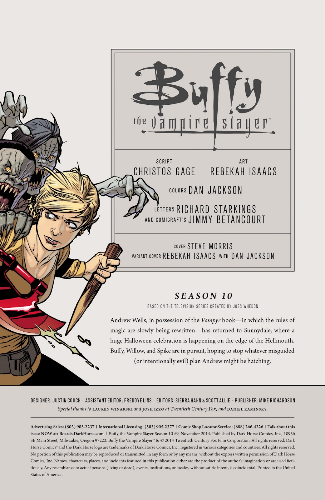 Comic Buffy the Vampire Slayer Season Ten issue 9