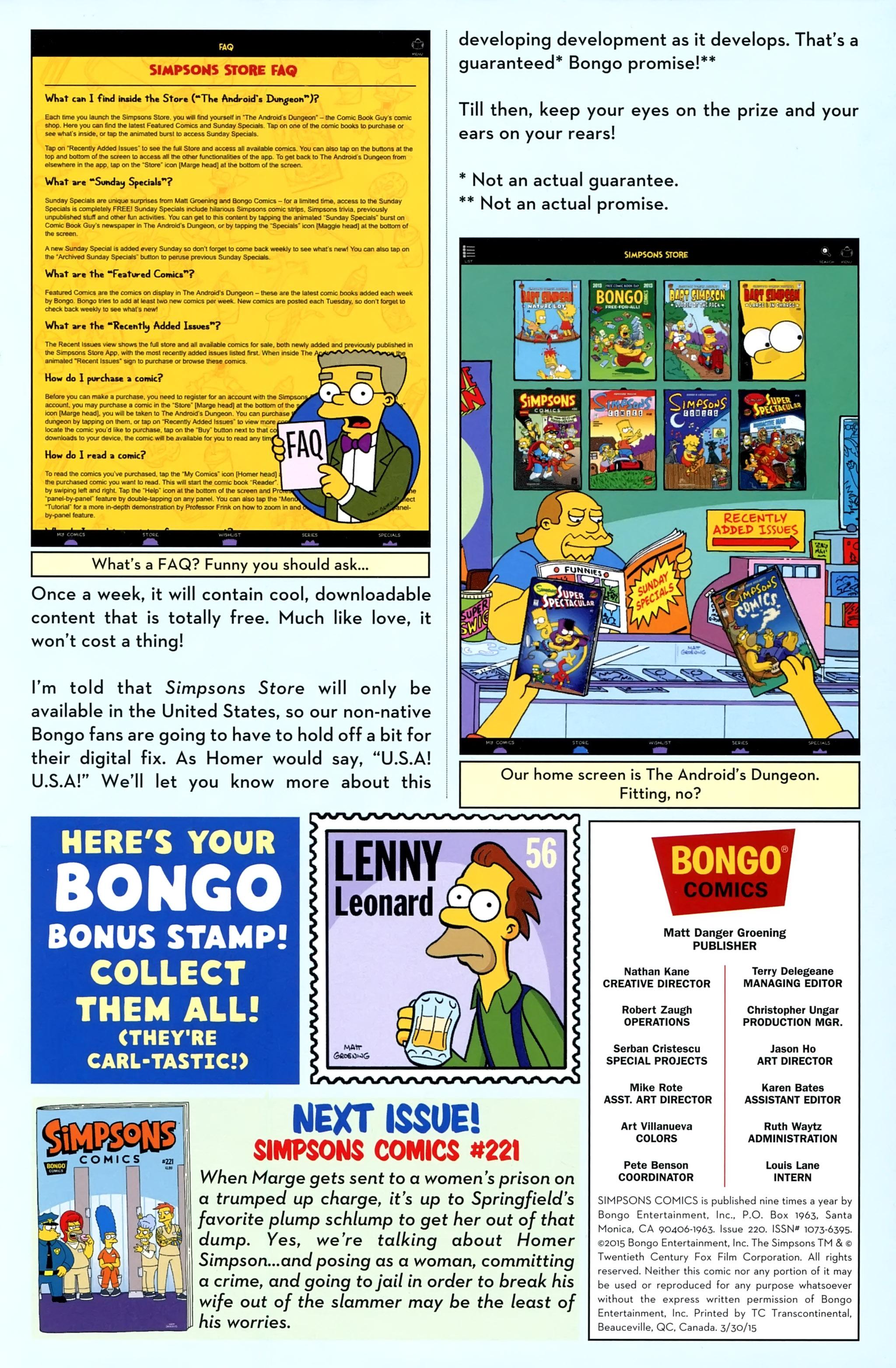 Read online Simpsons Comics comic -  Issue #220 - 29