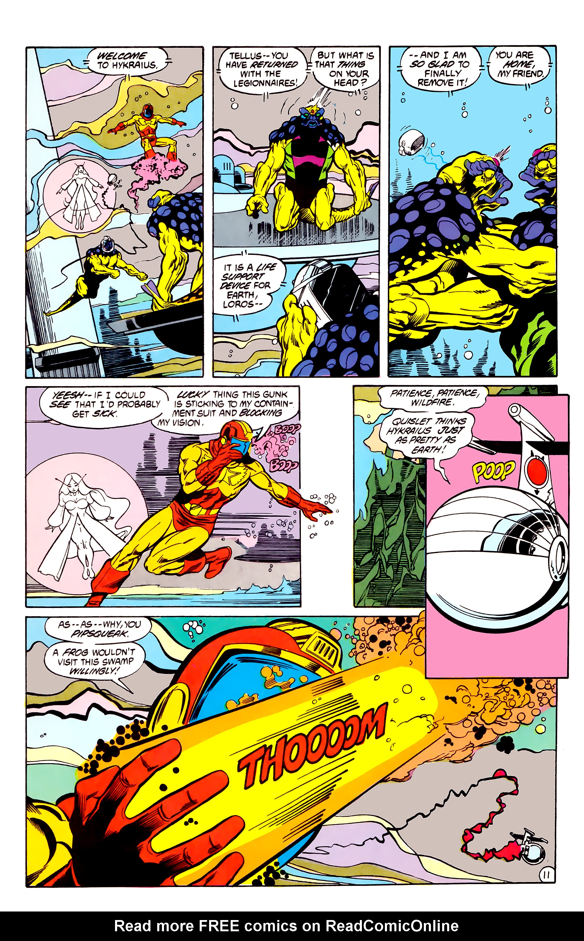 Legion of Super-Heroes (1984) 30 Page 11