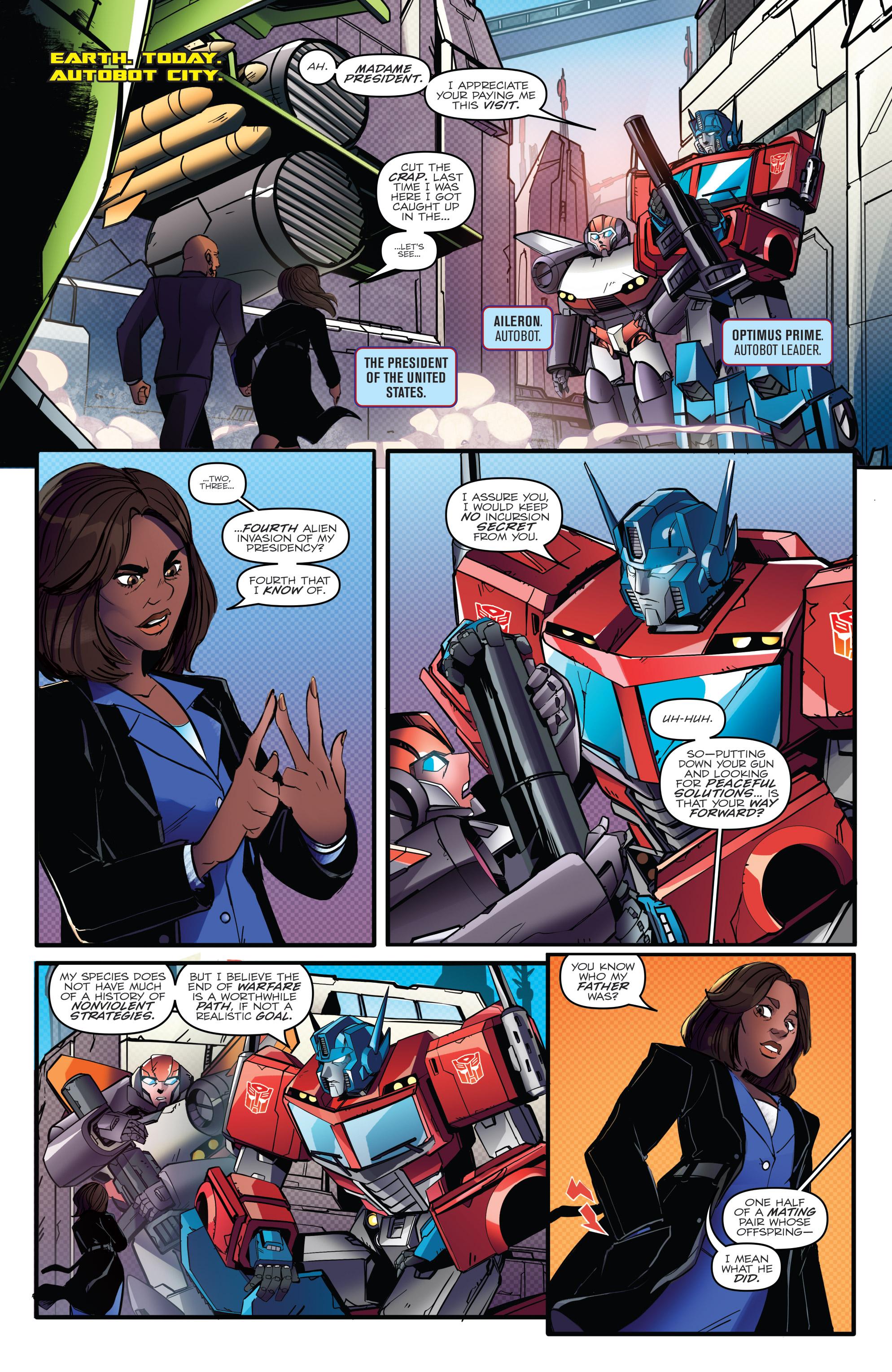 Read online Optimus Prime comic -  Issue #7 - 7