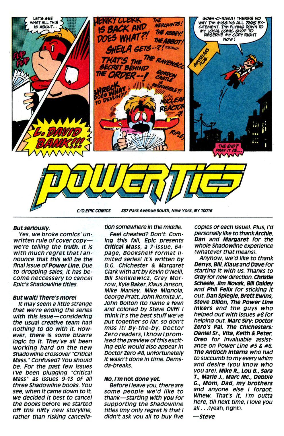 Read online Powerline comic -  Issue #8 - 30