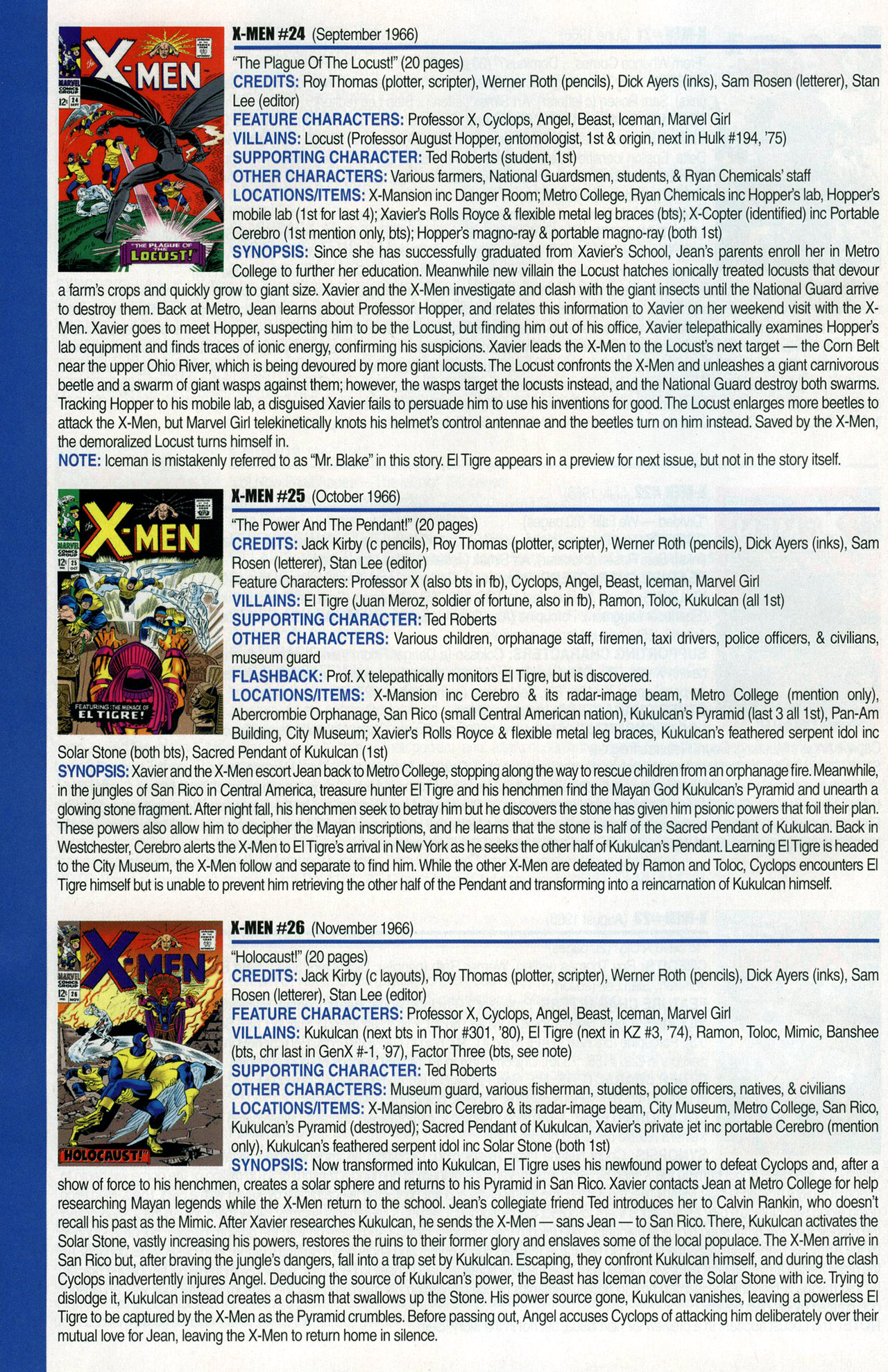Read online Official Index to the Marvel Universe comic -  Issue #1 - 54