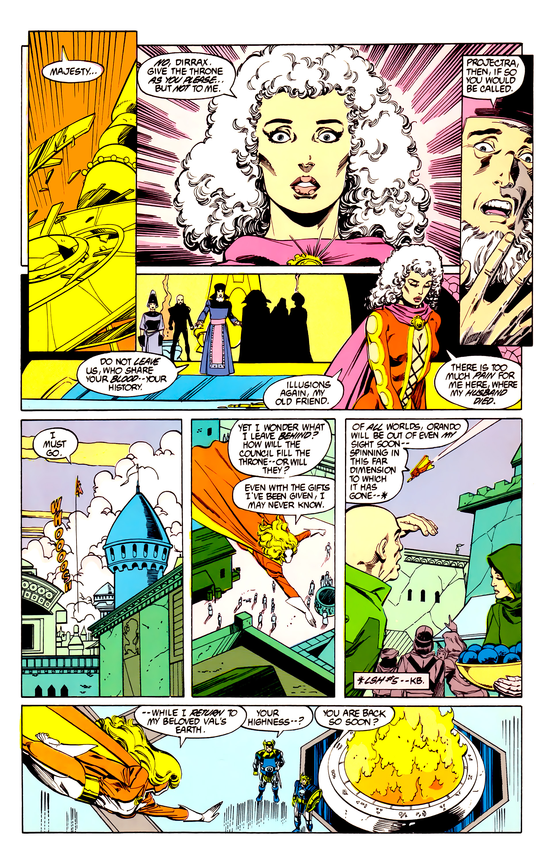 Legion of Super-Heroes (1984) 27 Page 5