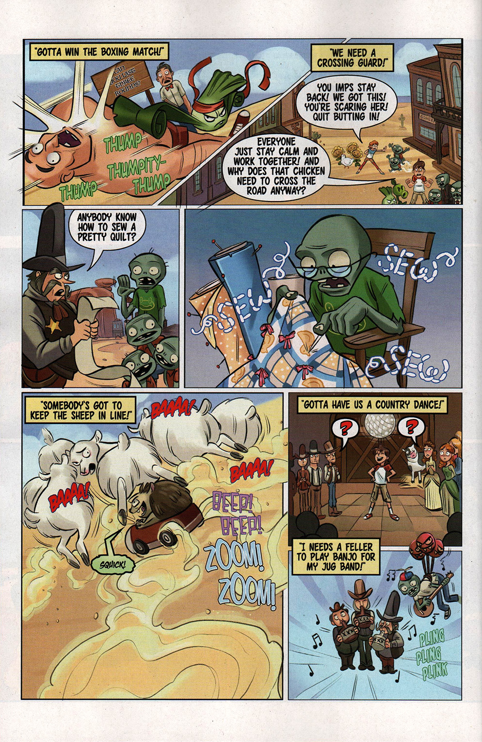 Read online Free Comic Book Day 2017 comic -  Issue # Buffy - Plants vs Zombies - 20