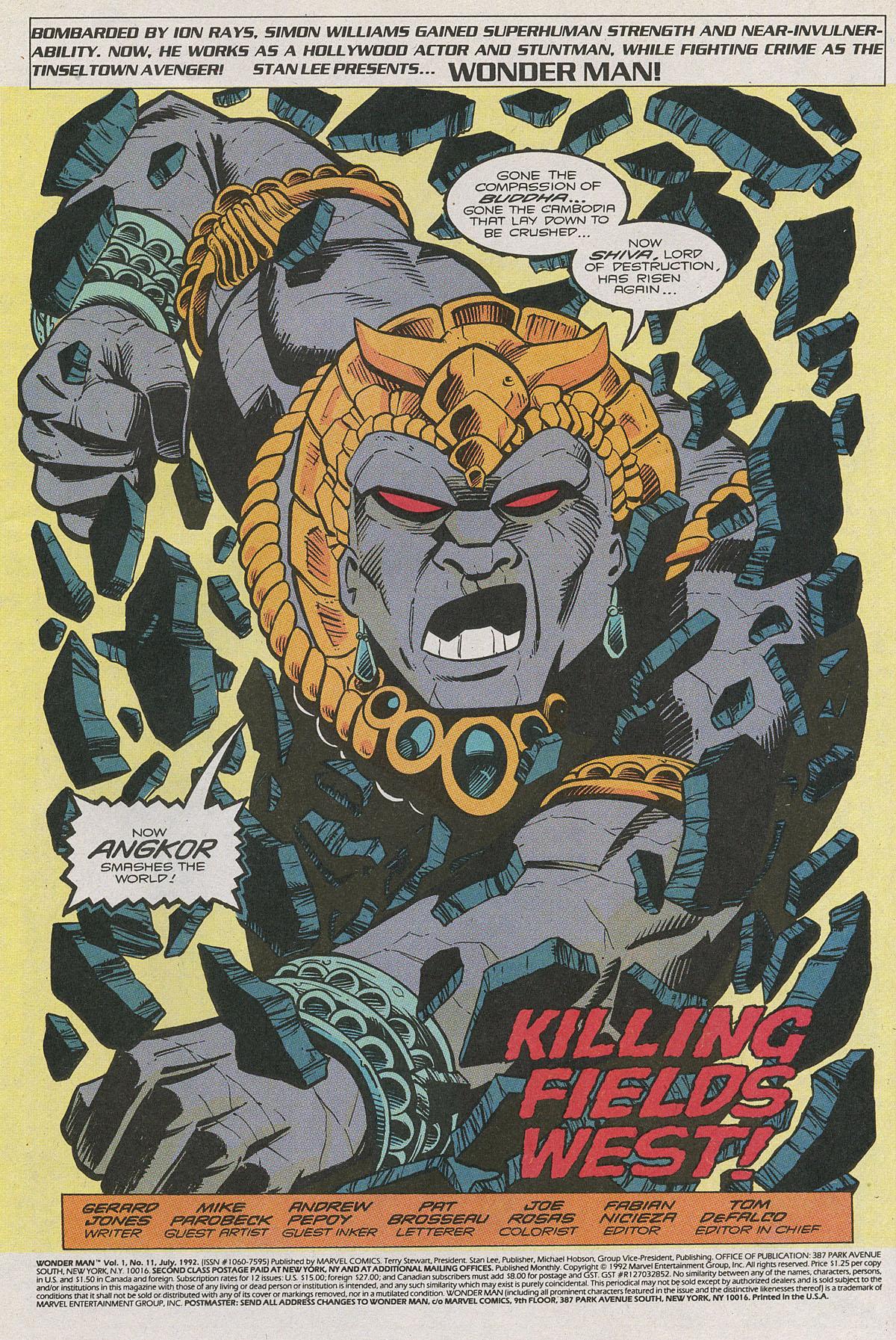 Read online Wonder Man (1991) comic -  Issue #11 - 2