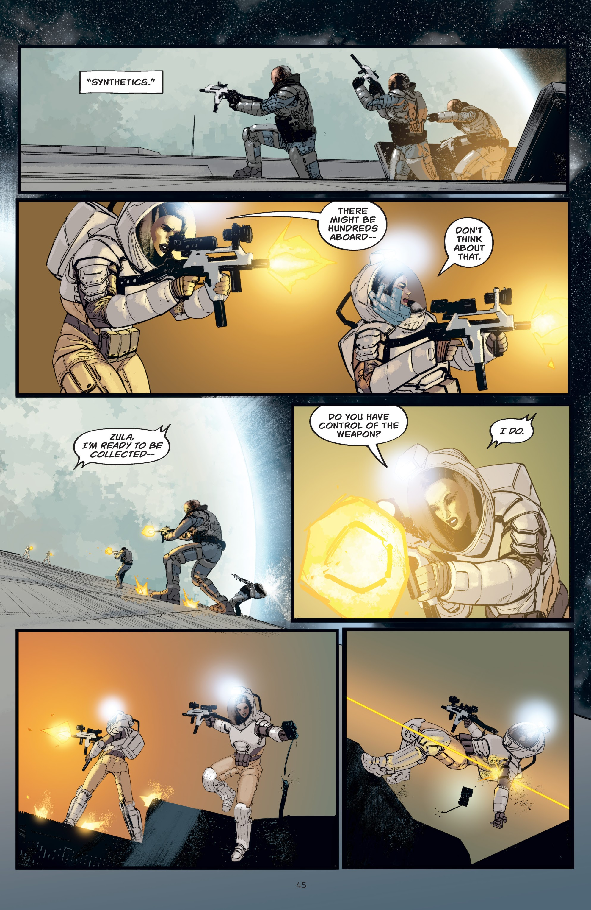Read online Aliens: Resistance comic -  Issue # _TPB - 45