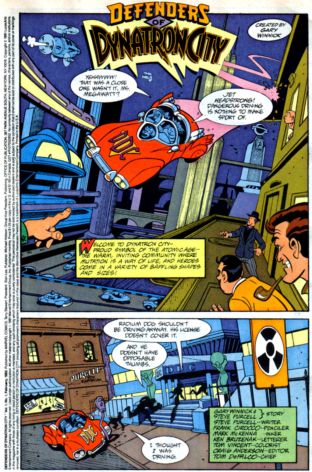 Read online Defenders of Dynatron City comic -  Issue #1 - 2
