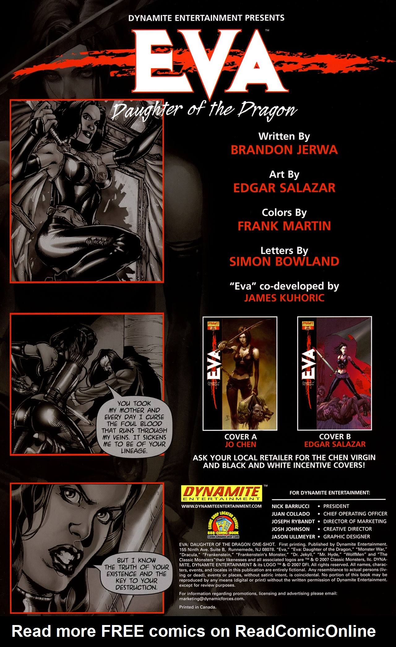 Read online Eva: Daughter of the Dragon comic -  Issue # Full - 2