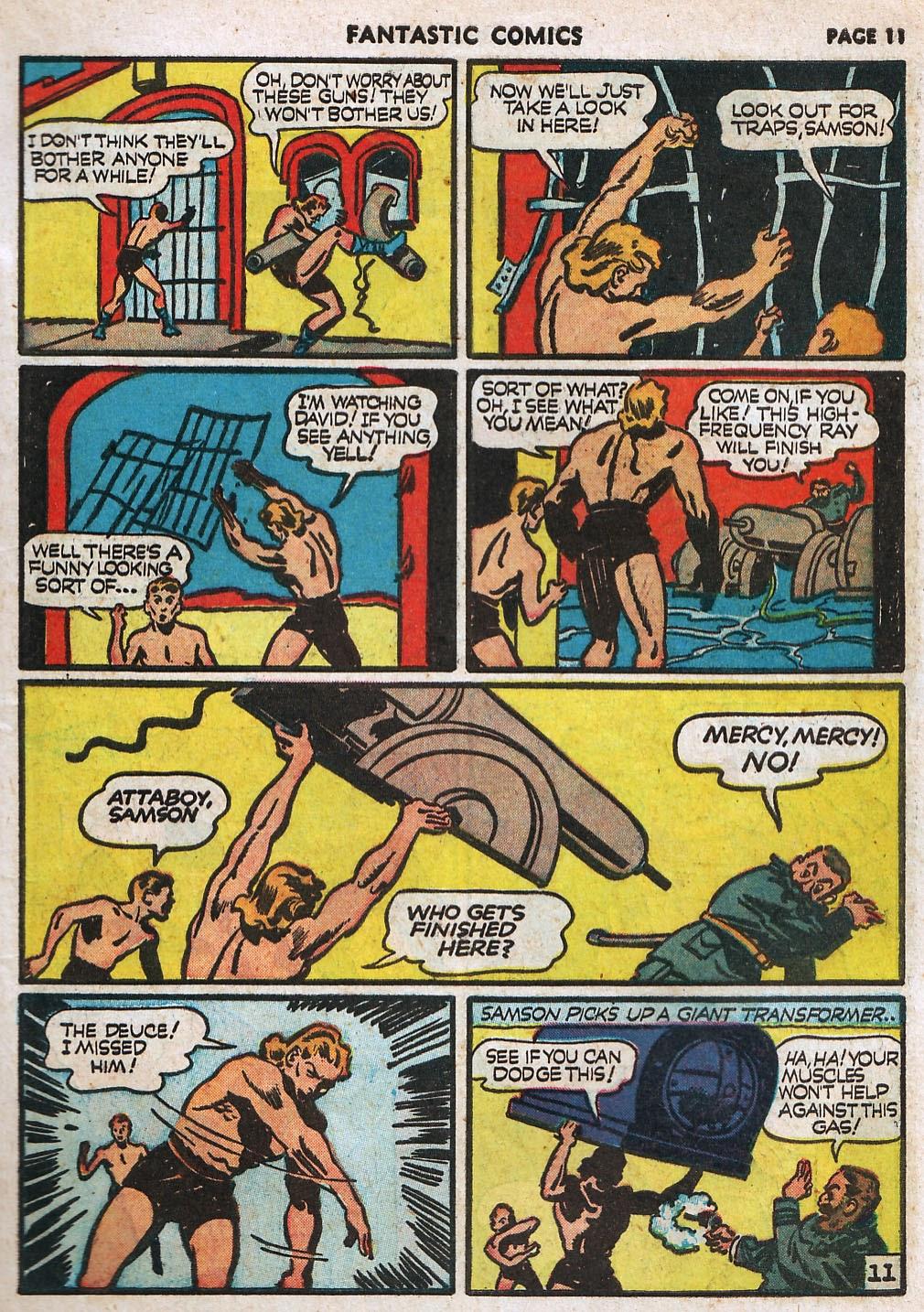 Read online Fantastic Comics comic -  Issue #17 - 13