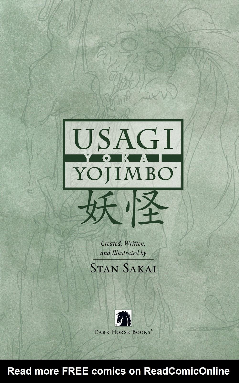 Read online Usagi Yojimbo: Yokai comic -  Issue # Full - 2