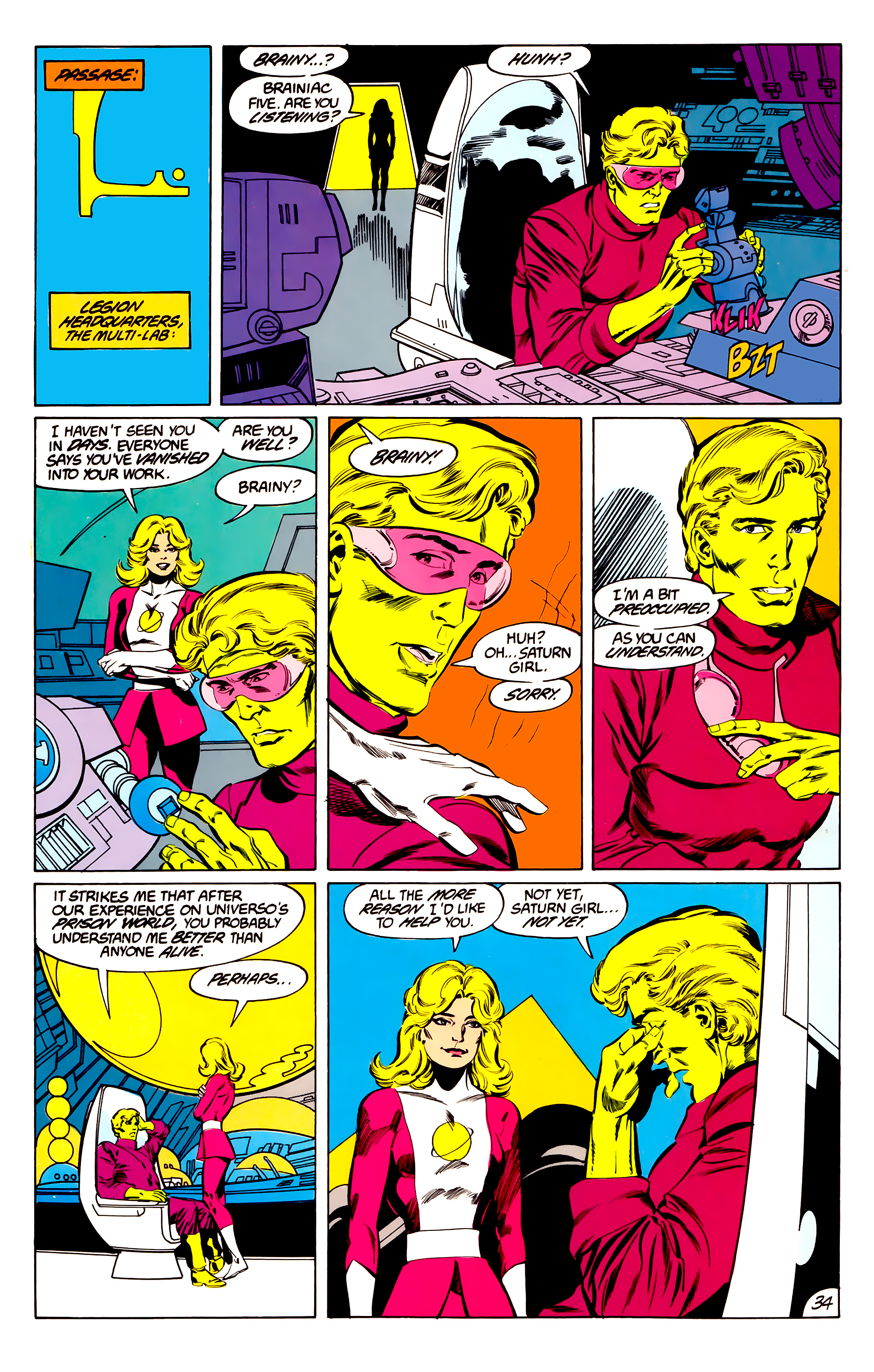 Legion of Super-Heroes (1984) 45 Page 34