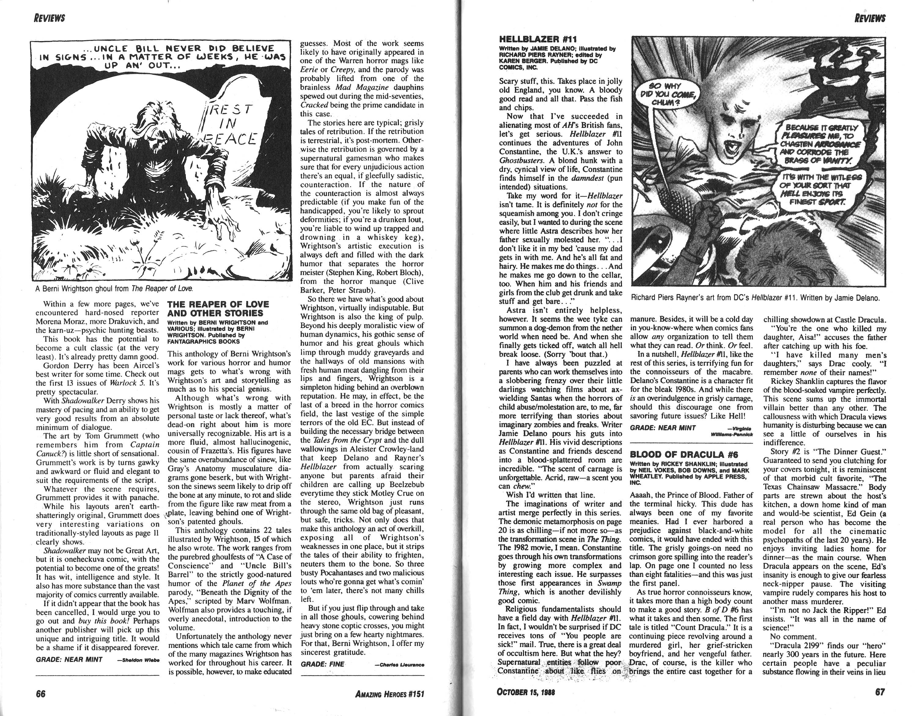 Read online Amazing Heroes comic -  Issue #151 - 34