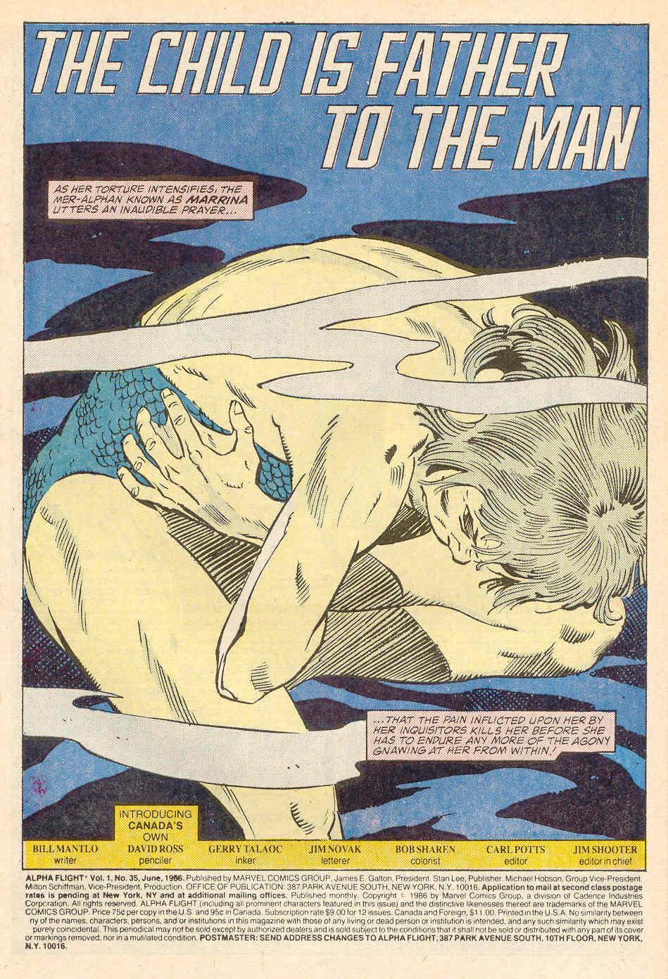 Read online Alpha Flight (1983) comic -  Issue #35 - 2