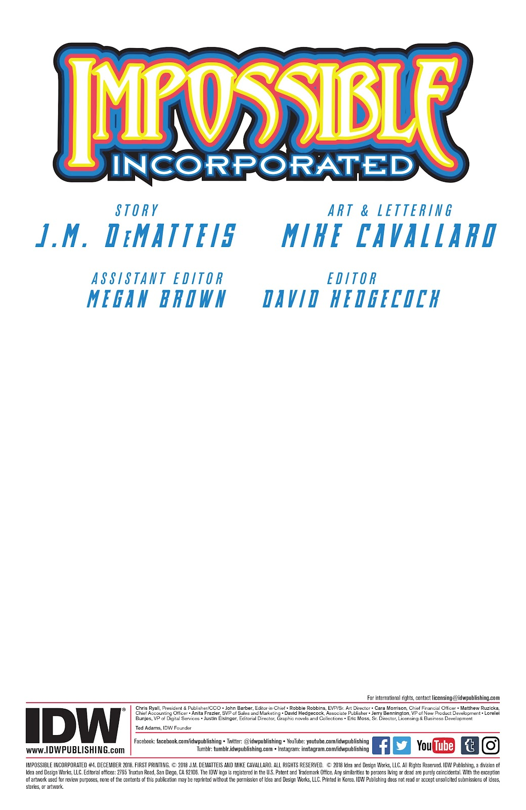 Read online Impossible Incorporated comic -  Issue #4 - 2