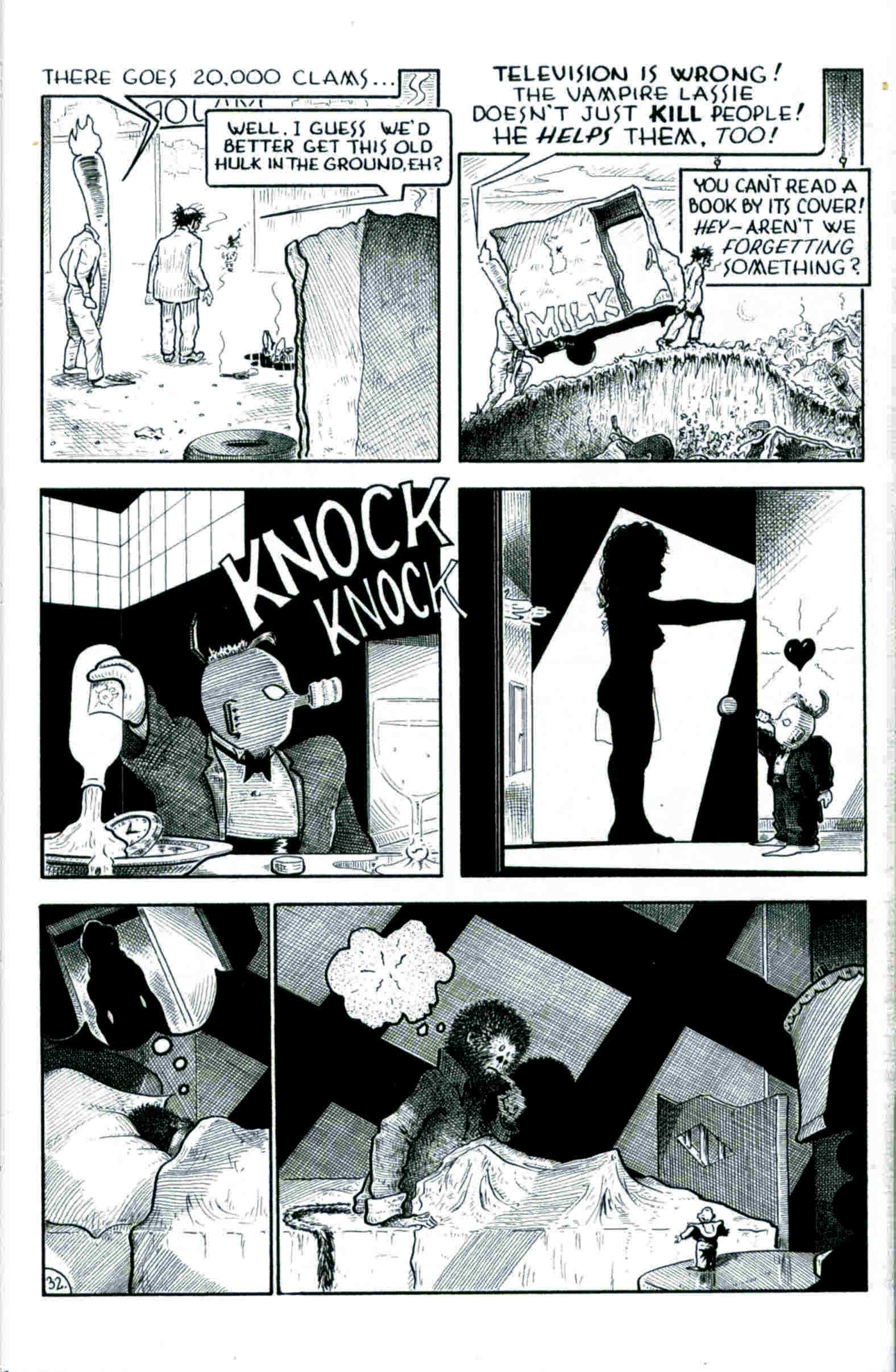 Read online Flaming Carrot & Reid Fleming, World's Toughest Milkman comic -  Issue # Full - 32