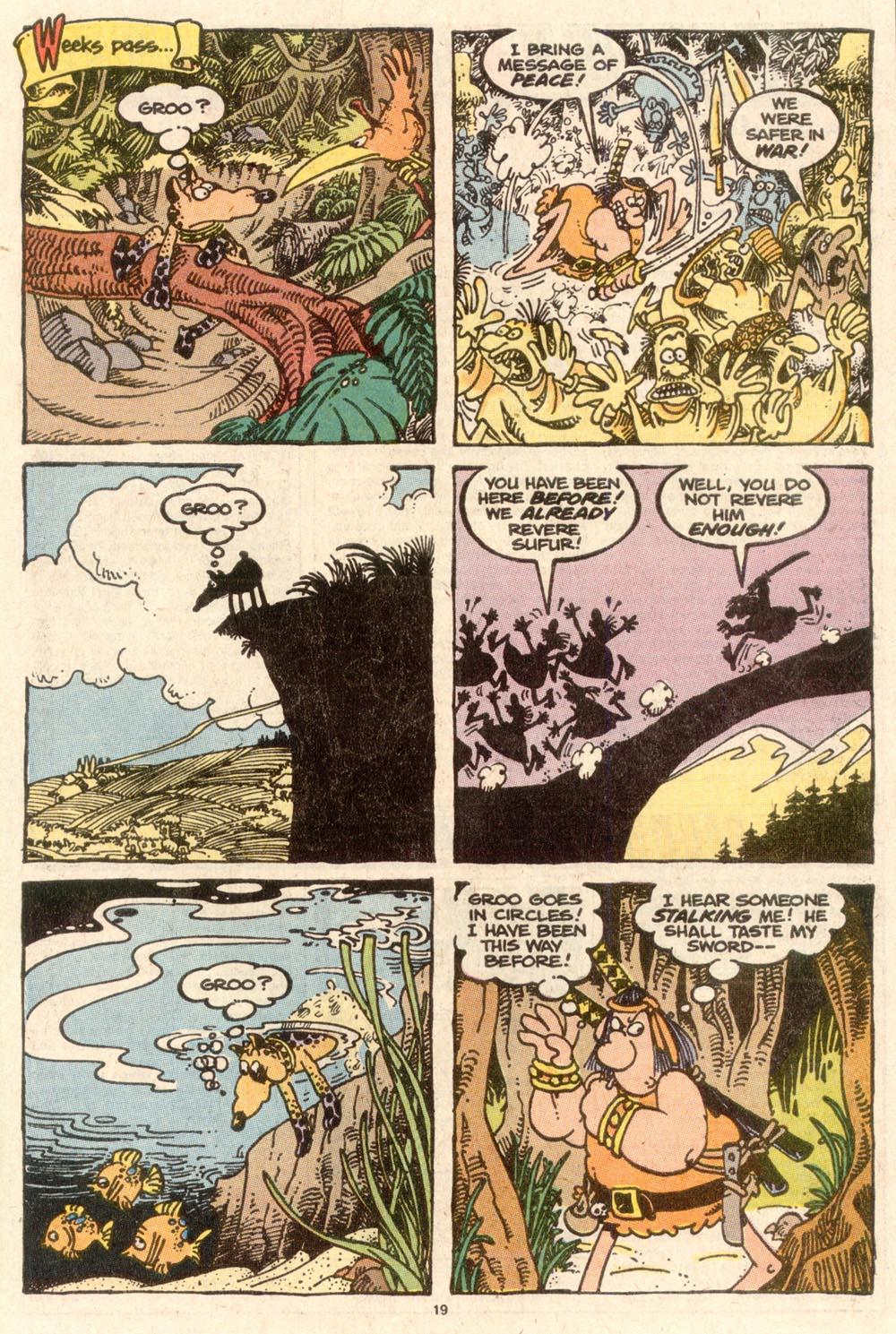 Read online Sergio Aragonés Groo the Wanderer comic -  Issue #58 - 19