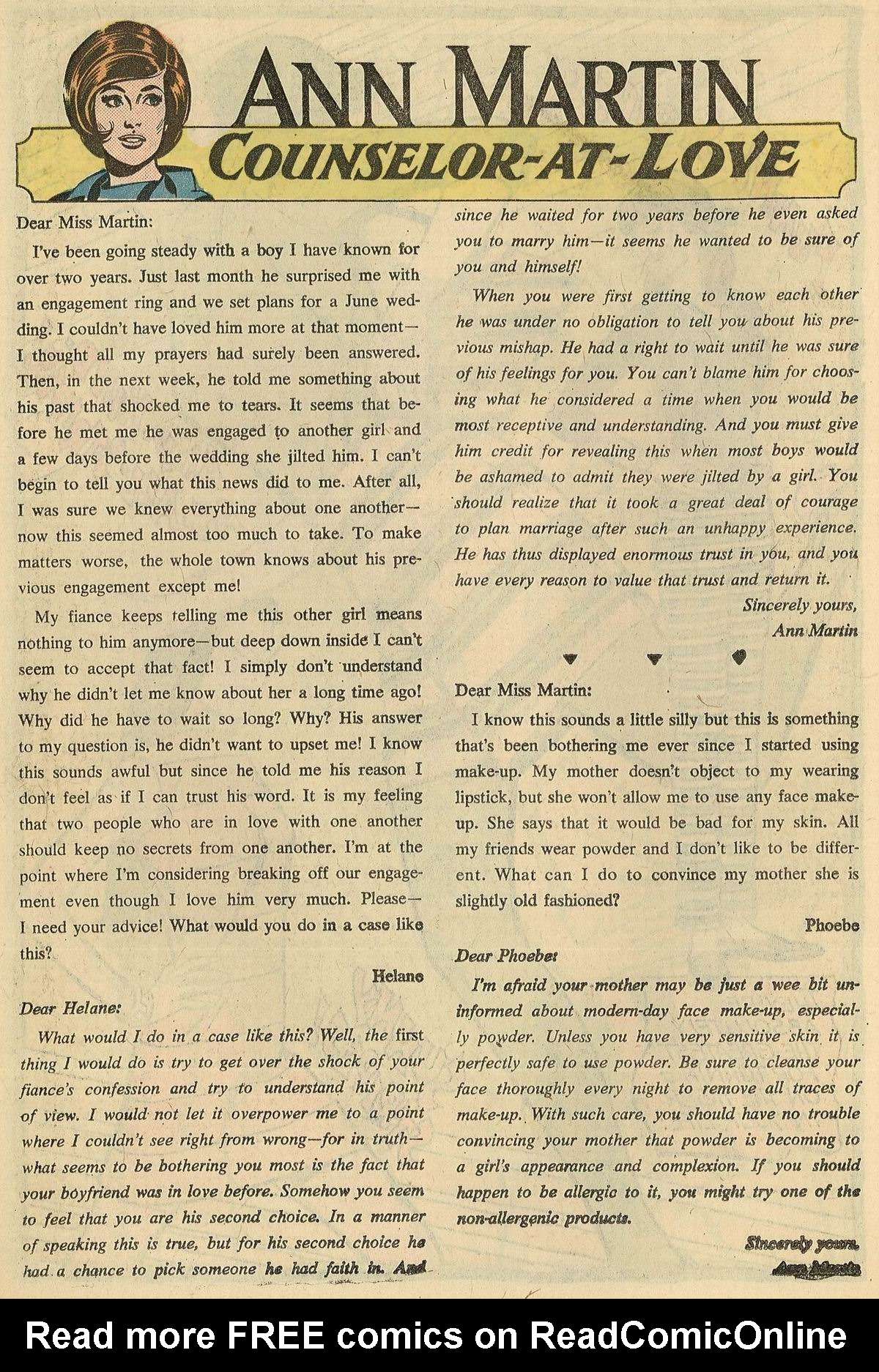 Read online Secret Hearts comic -  Issue #125 - 18