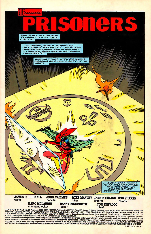 Alpha Flight (1983) 81 Page 2