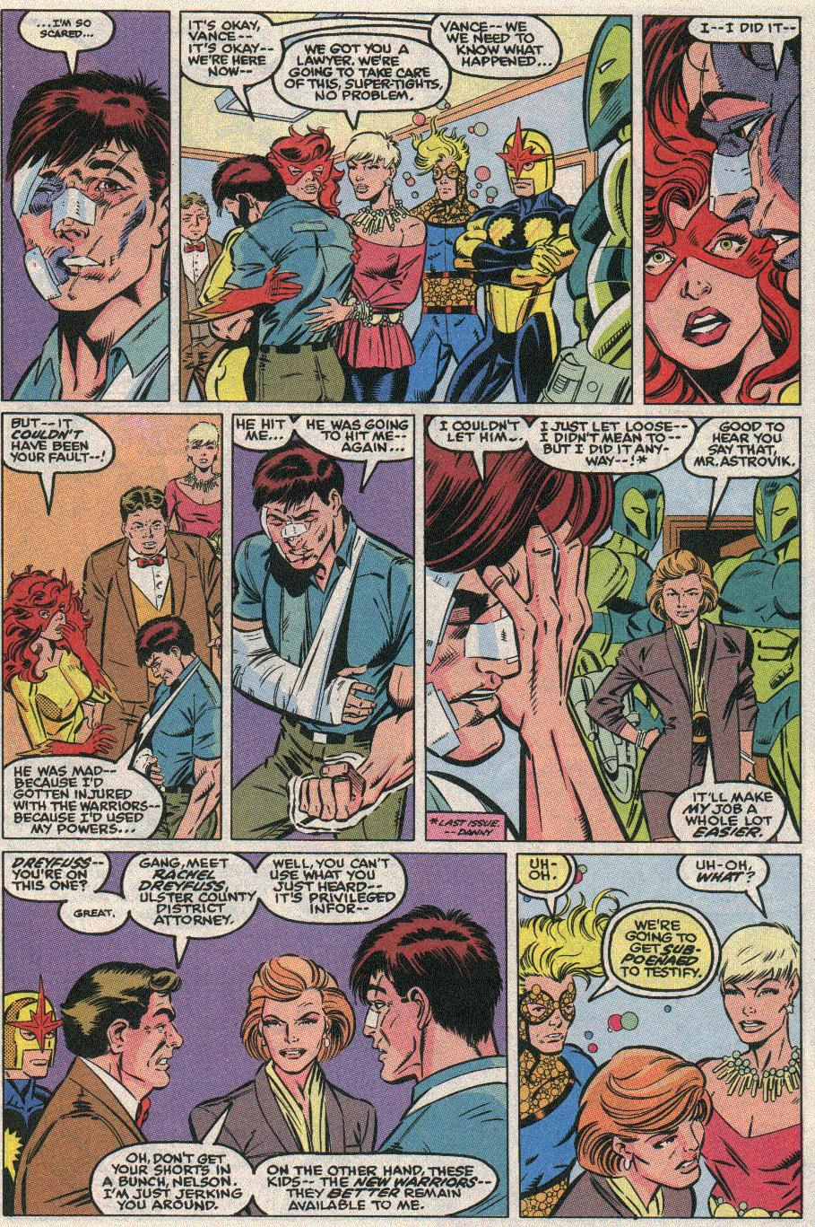 The New Warriors Issue #21 #25 - English 9