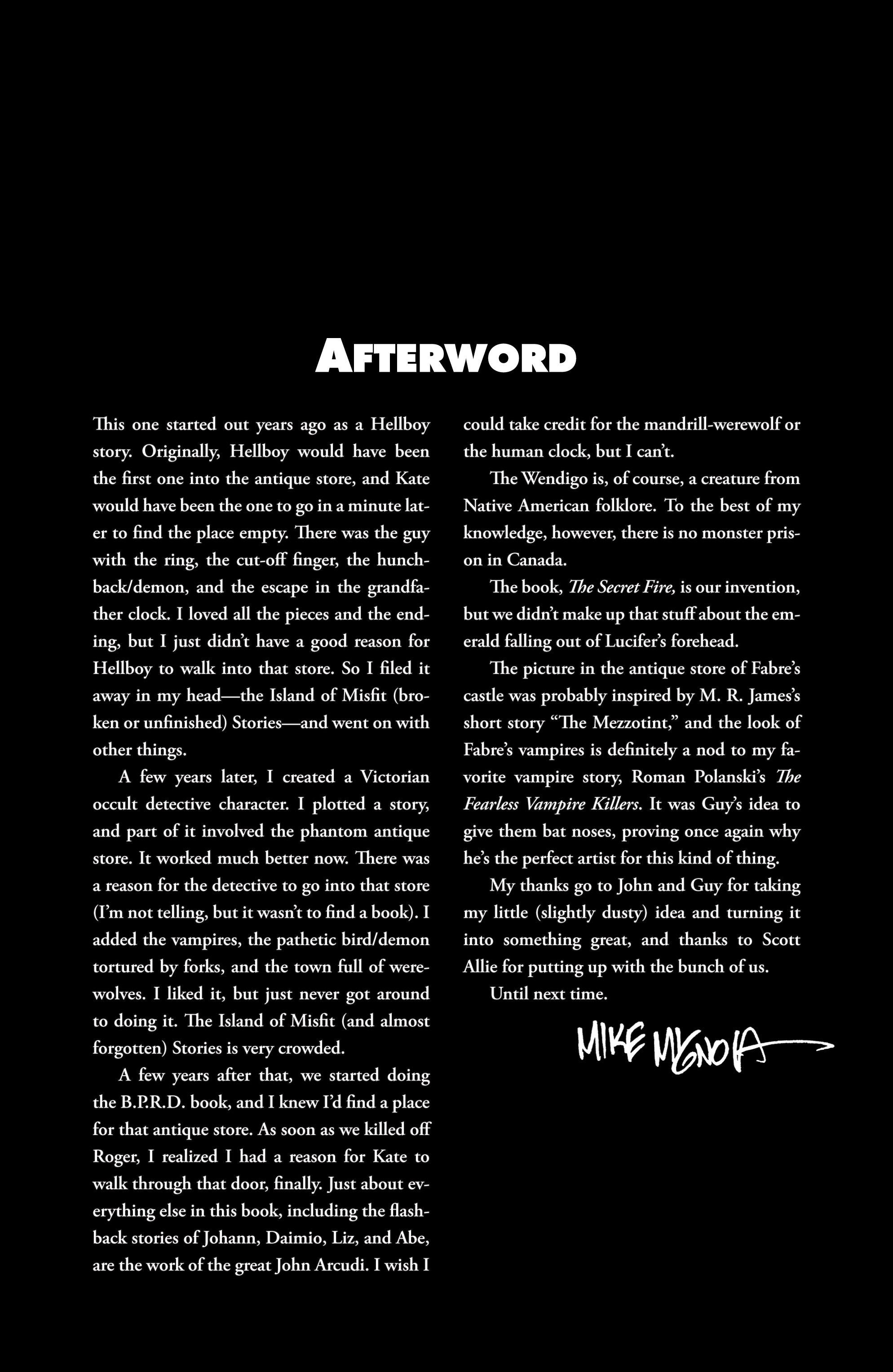 Read online B.P.R.D. (2003) comic -  Issue # TPB 6 - 137