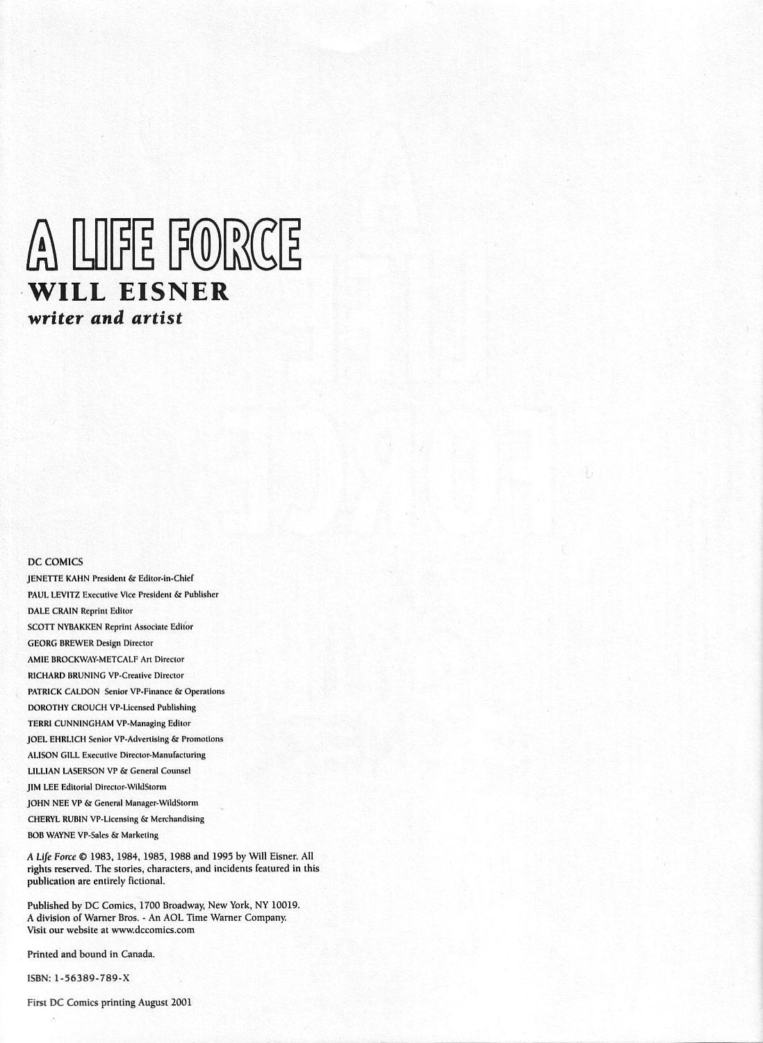 Read online A Life Force comic -  Issue #A Life Force TPB - 3
