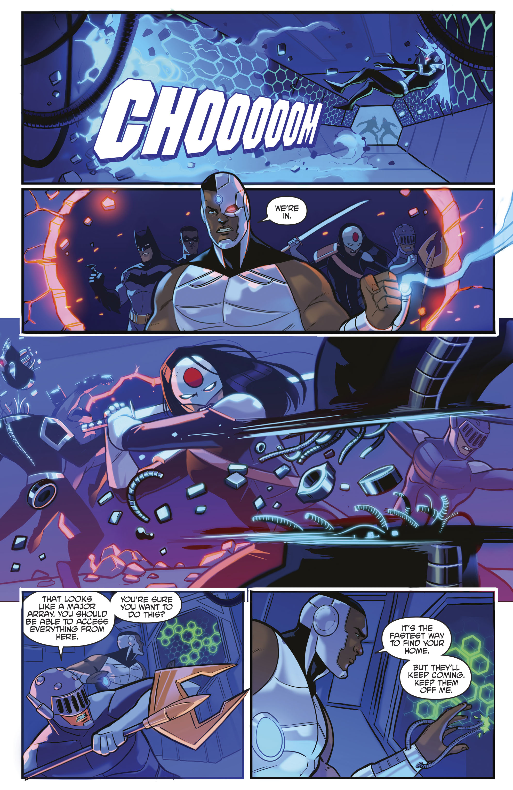 Read online Justice League/Mighty Morphin' Power Rangers comic -  Issue #4 - 19