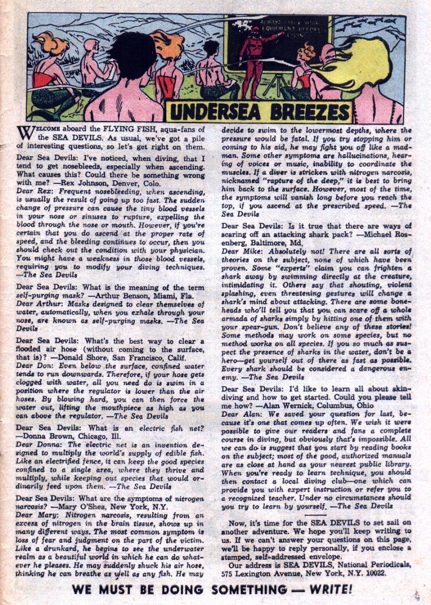 Read online Sea Devils comic -  Issue #29 - 34