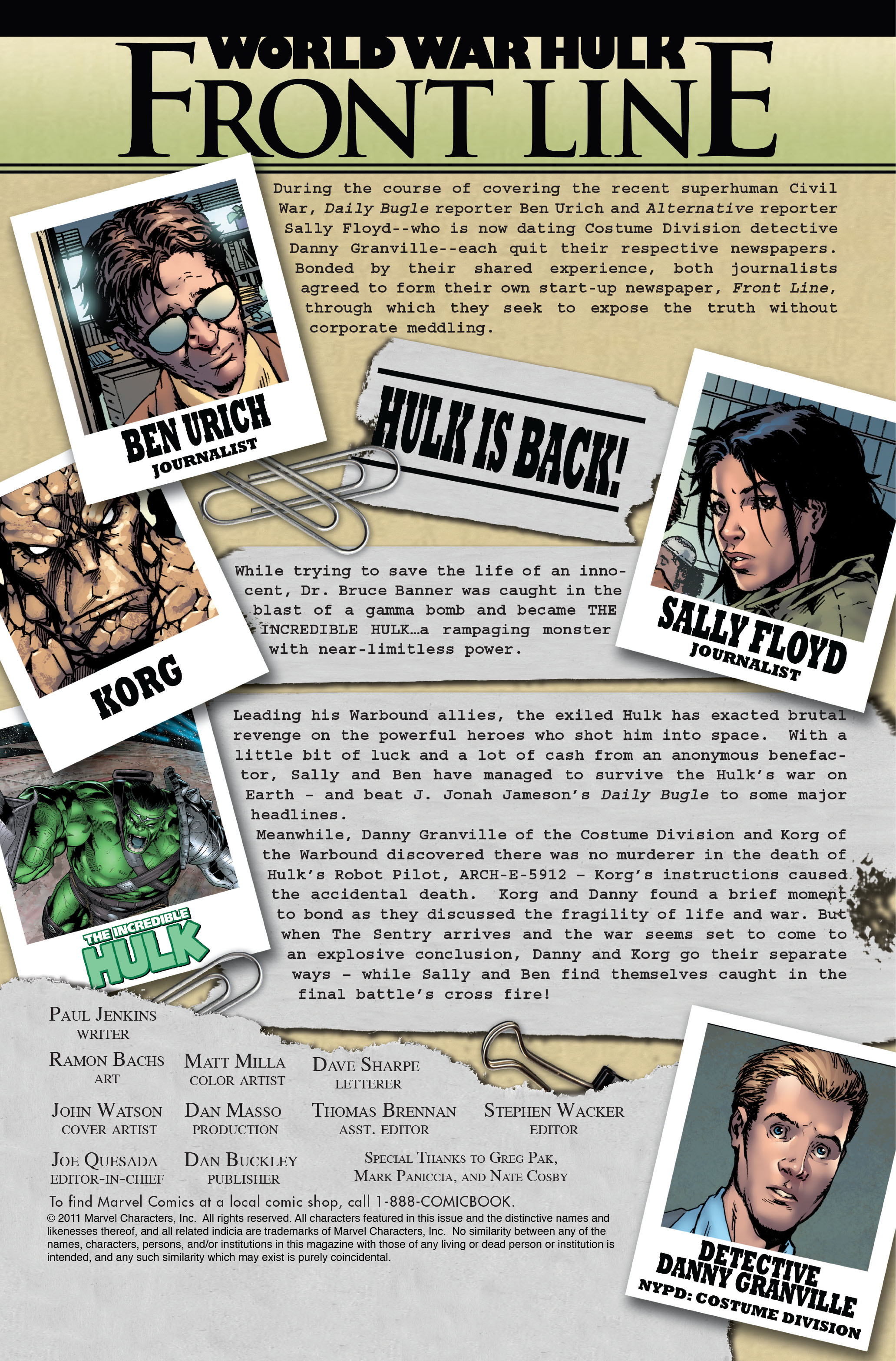 Read online World War Hulk: Front Line comic -  Issue #6 - 2