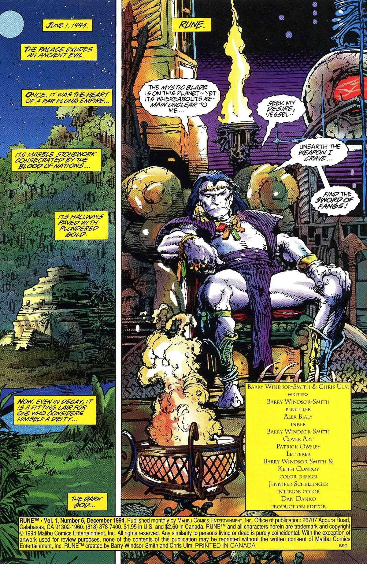 Read online Rune (1994) comic -  Issue #6 - 3
