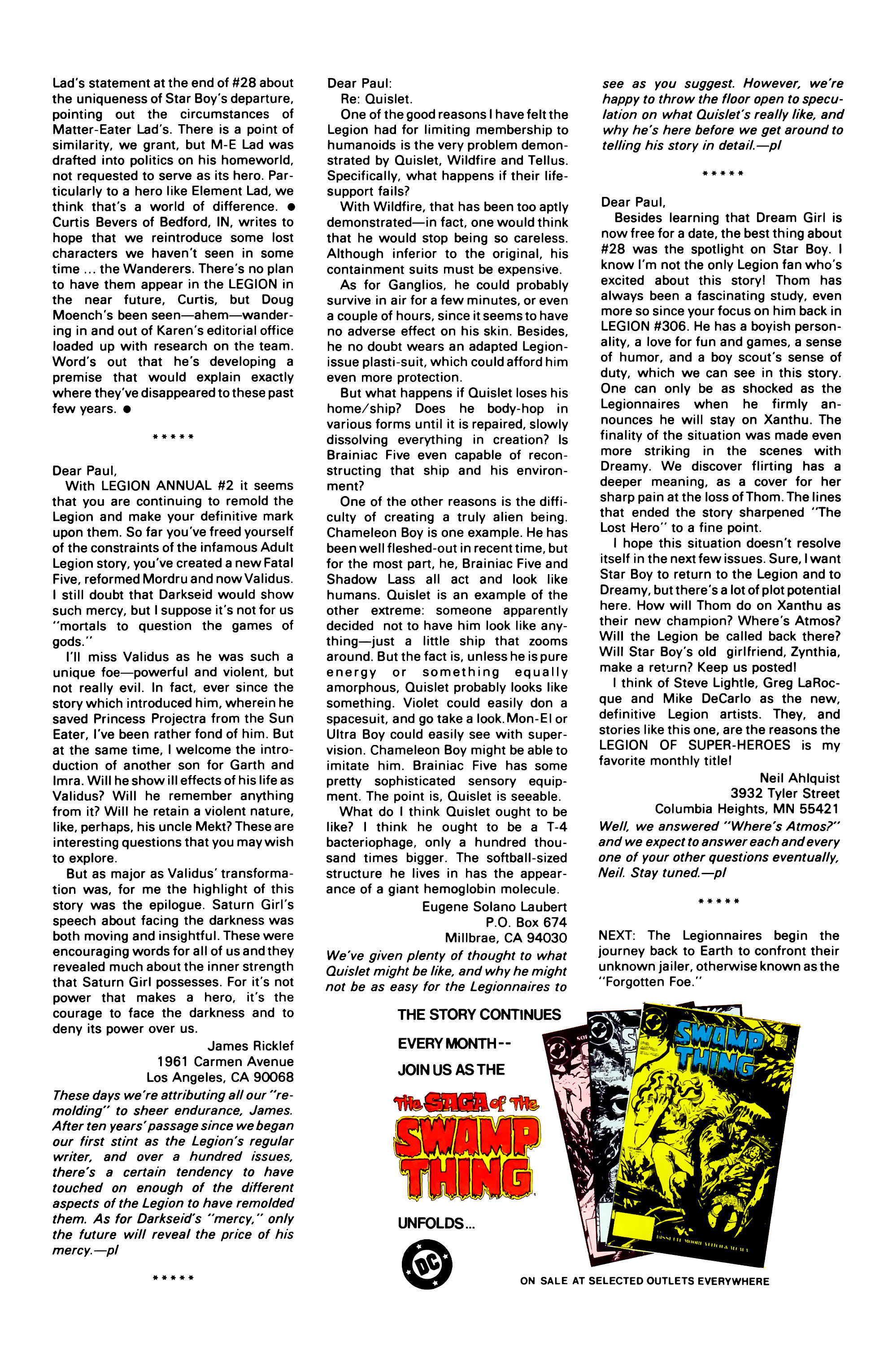 Legion of Super-Heroes (1984) 33 Page 30