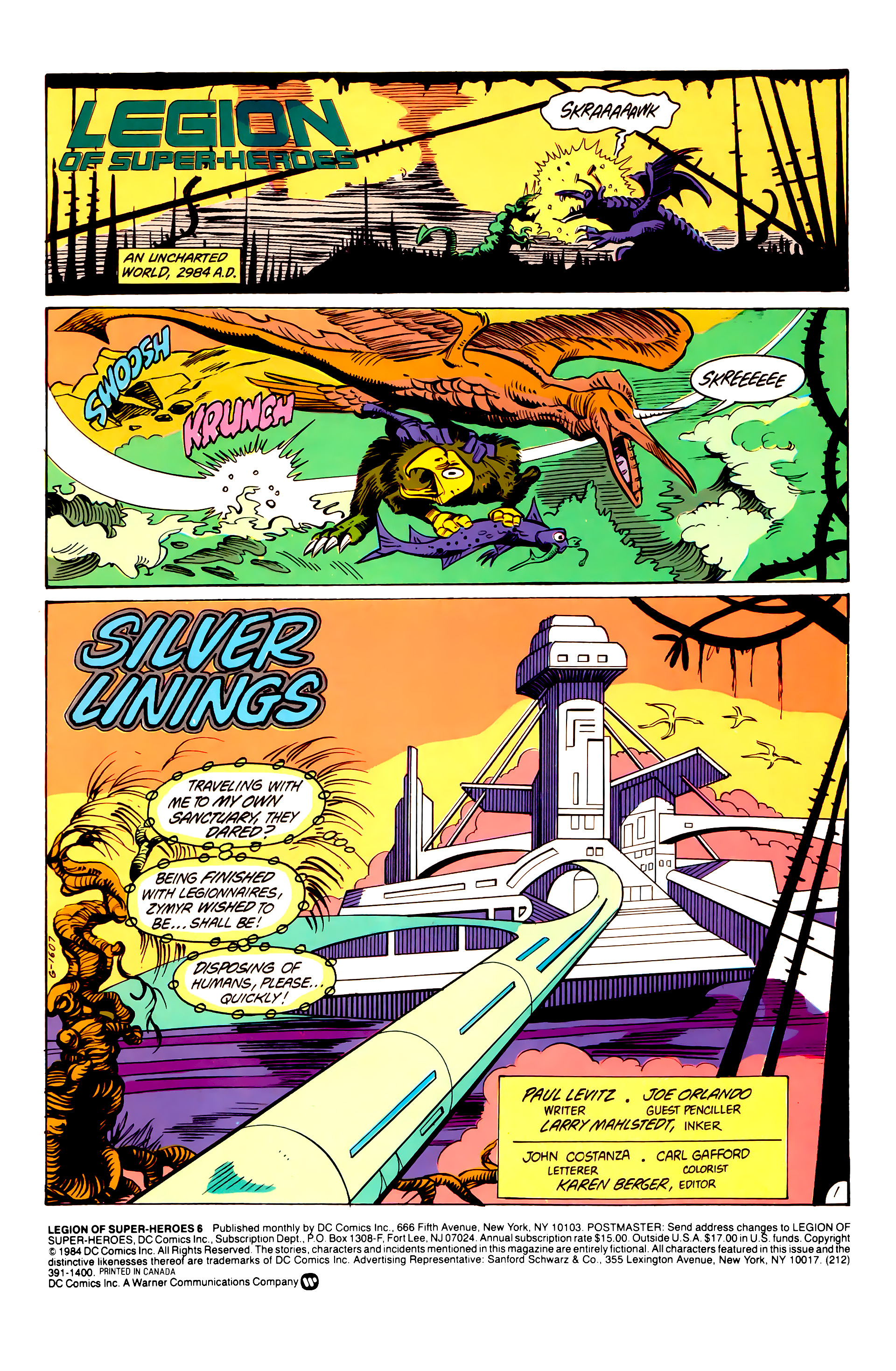 Legion of Super-Heroes (1984) 6 Page 2