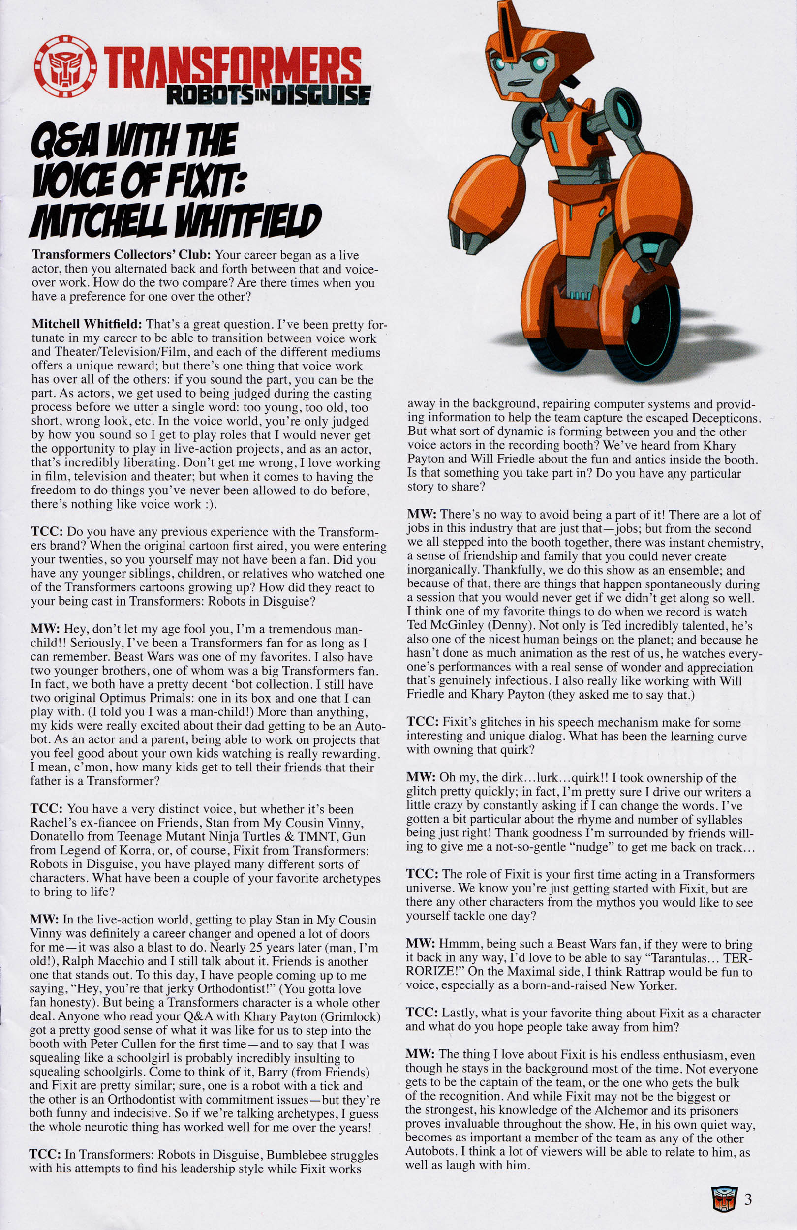 Read online Transformers: Collectors' Club comic -  Issue #65 - 3