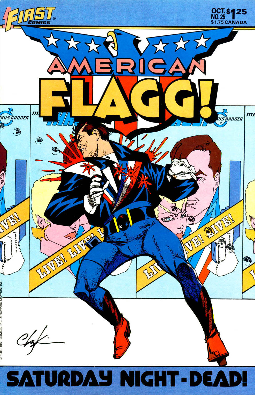 Read online American Flagg! comic -  Issue #25 - 1