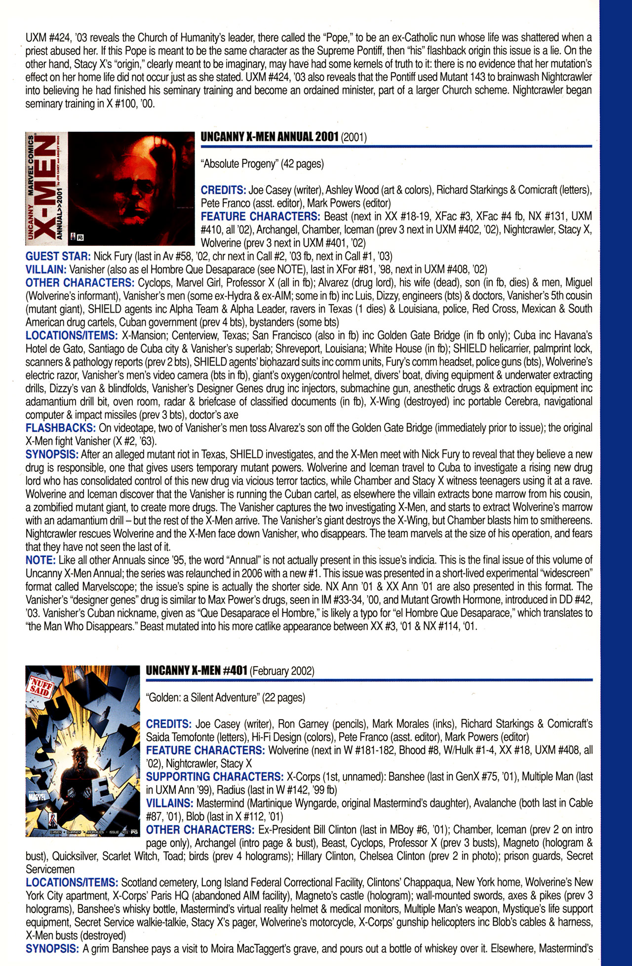 Read online Official Index to the Marvel Universe comic -  Issue #10 - 61