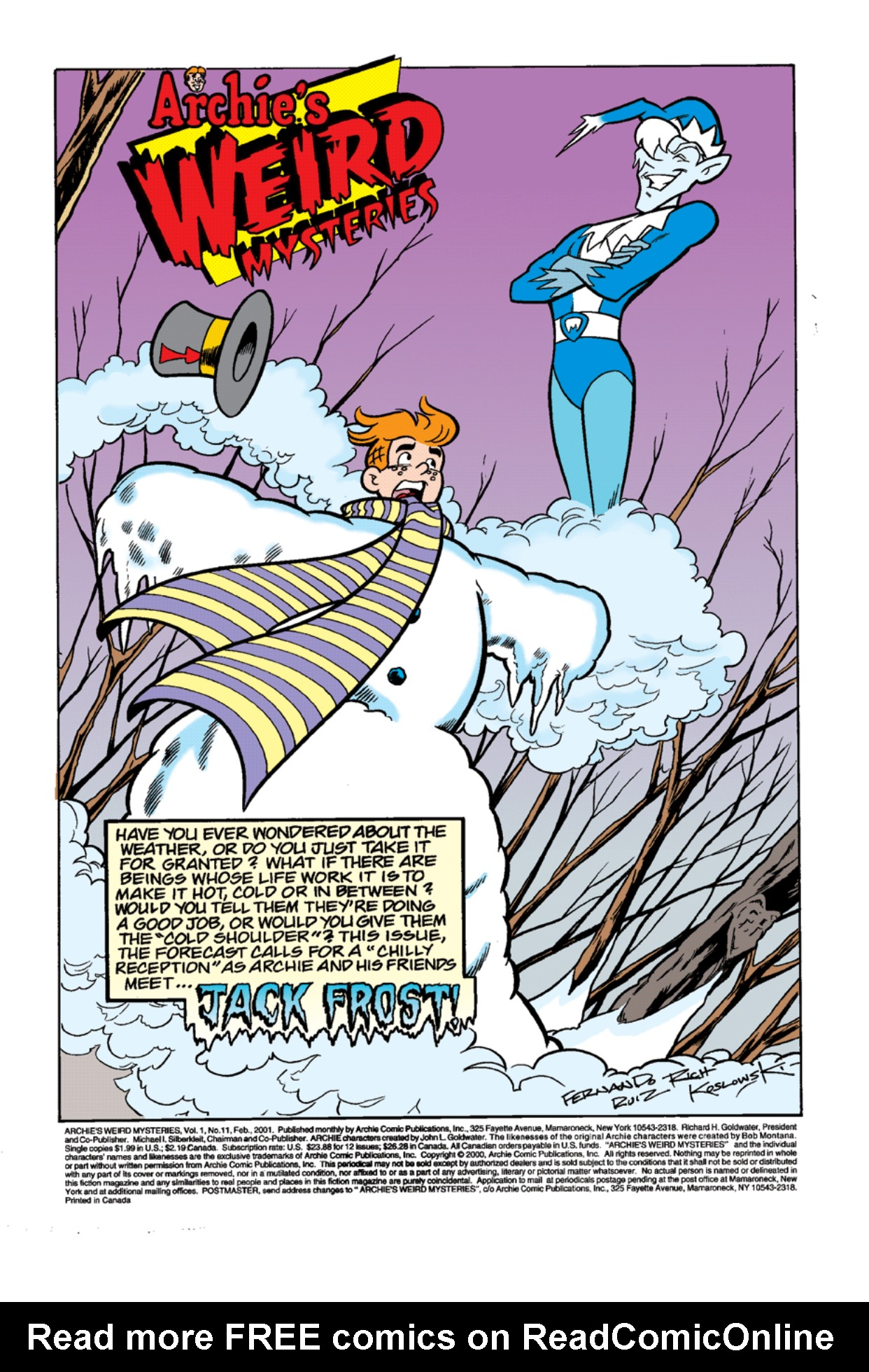 Read online Archie's Weird Mysteries comic -  Issue #11 - 2