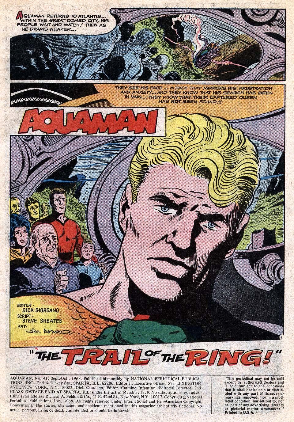 Read online Aquaman (1962) comic -  Issue #41 - 3
