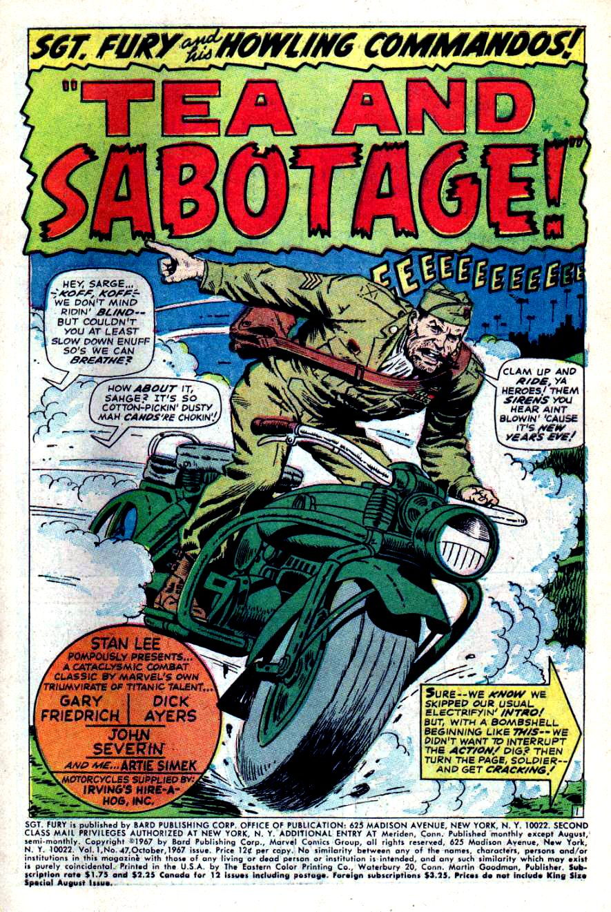 Read online Sgt. Fury comic -  Issue #47 - 3