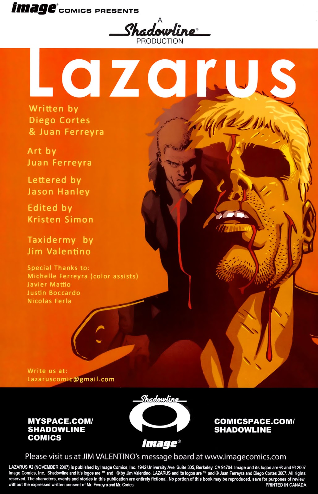 Read online Lazarus (2007) comic -  Issue #2 - 2